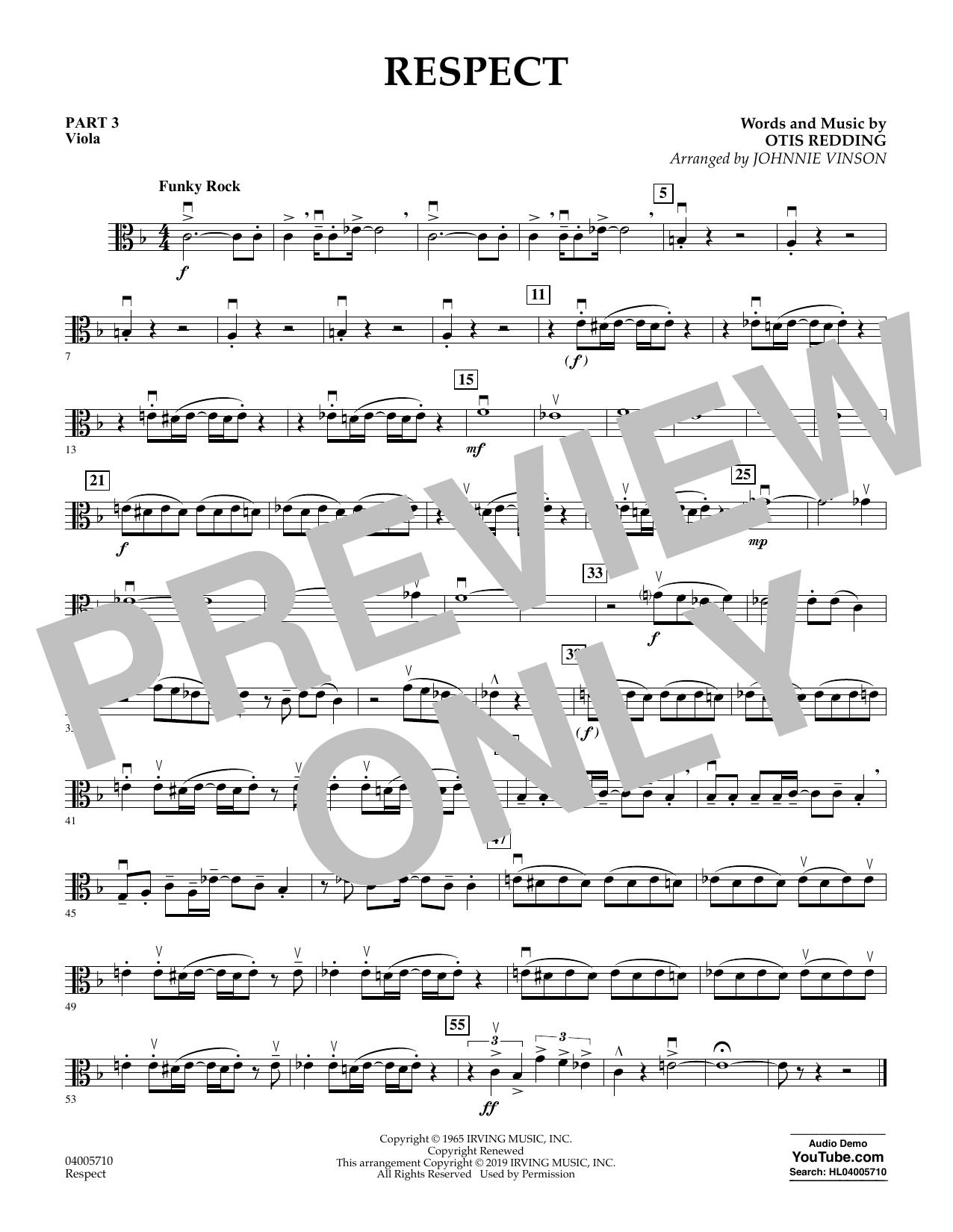 Respect (arr. Johnnie Vinson) - Pt.3 - Viola (Flex-Band)