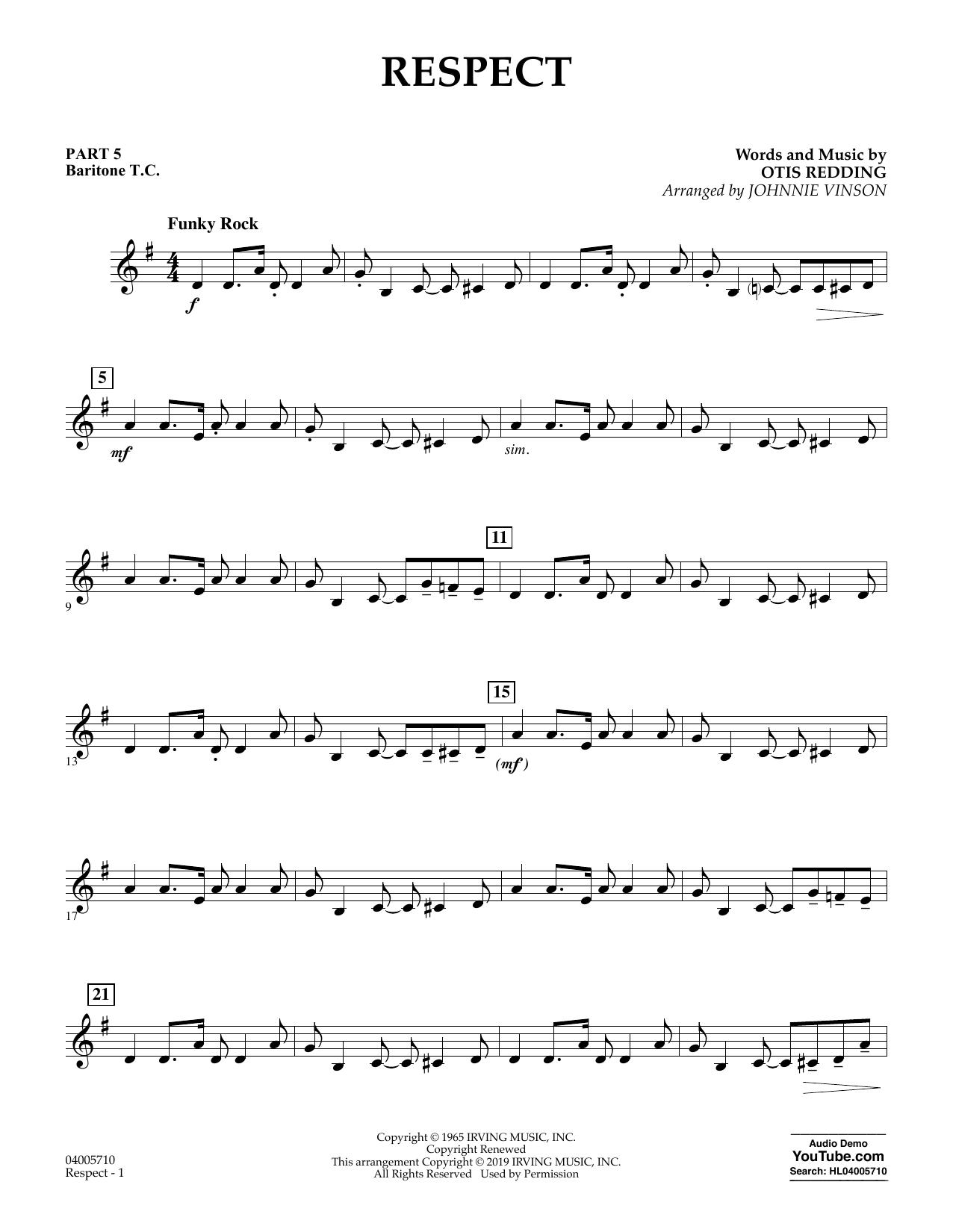 Respect (arr. Johnnie Vinson) - Pt.5 - Baritone T.C. (Flex-Band)
