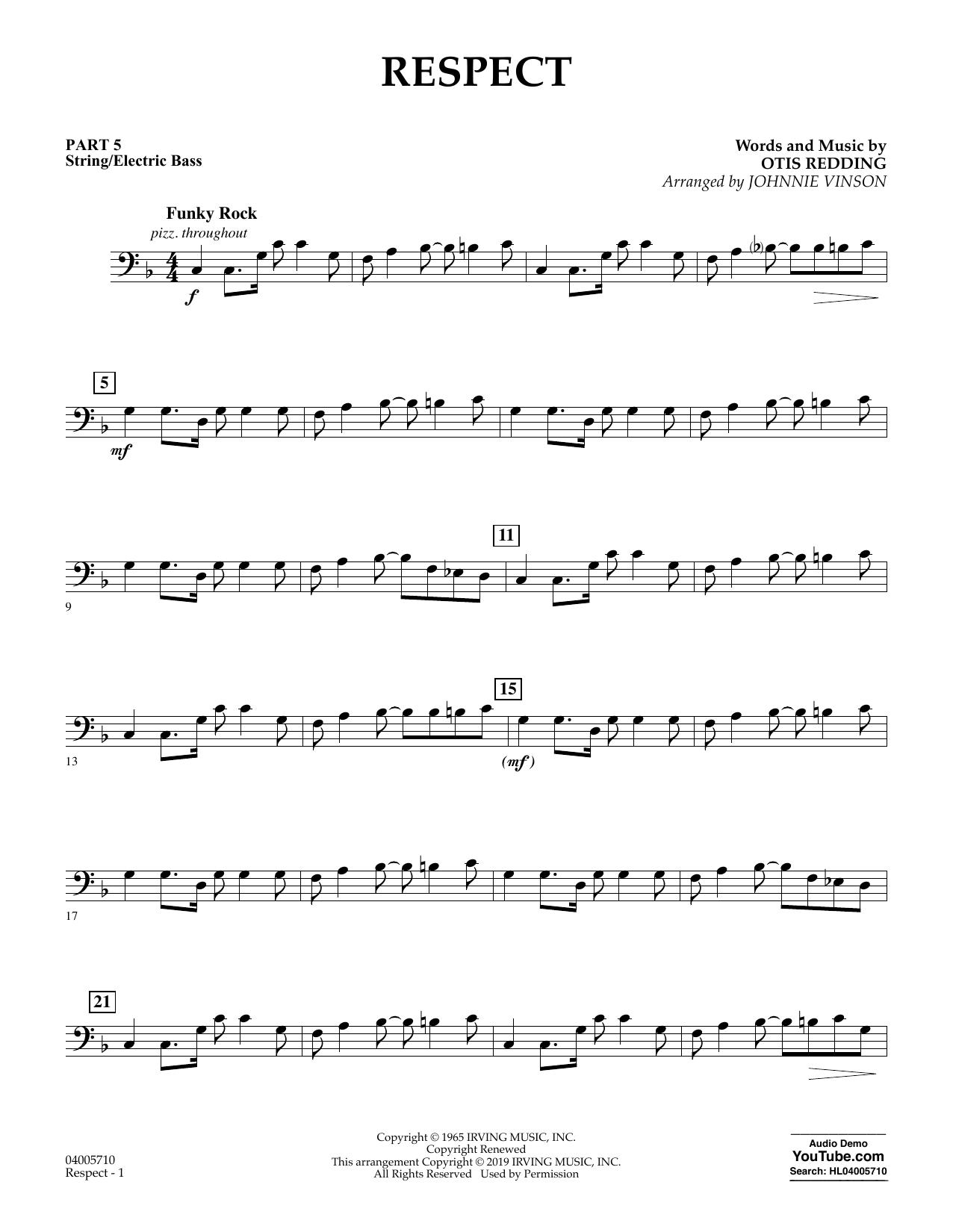 Respect (arr. Johnnie Vinson) - Pt.5 - String/Electric Bass (Flex-Band)