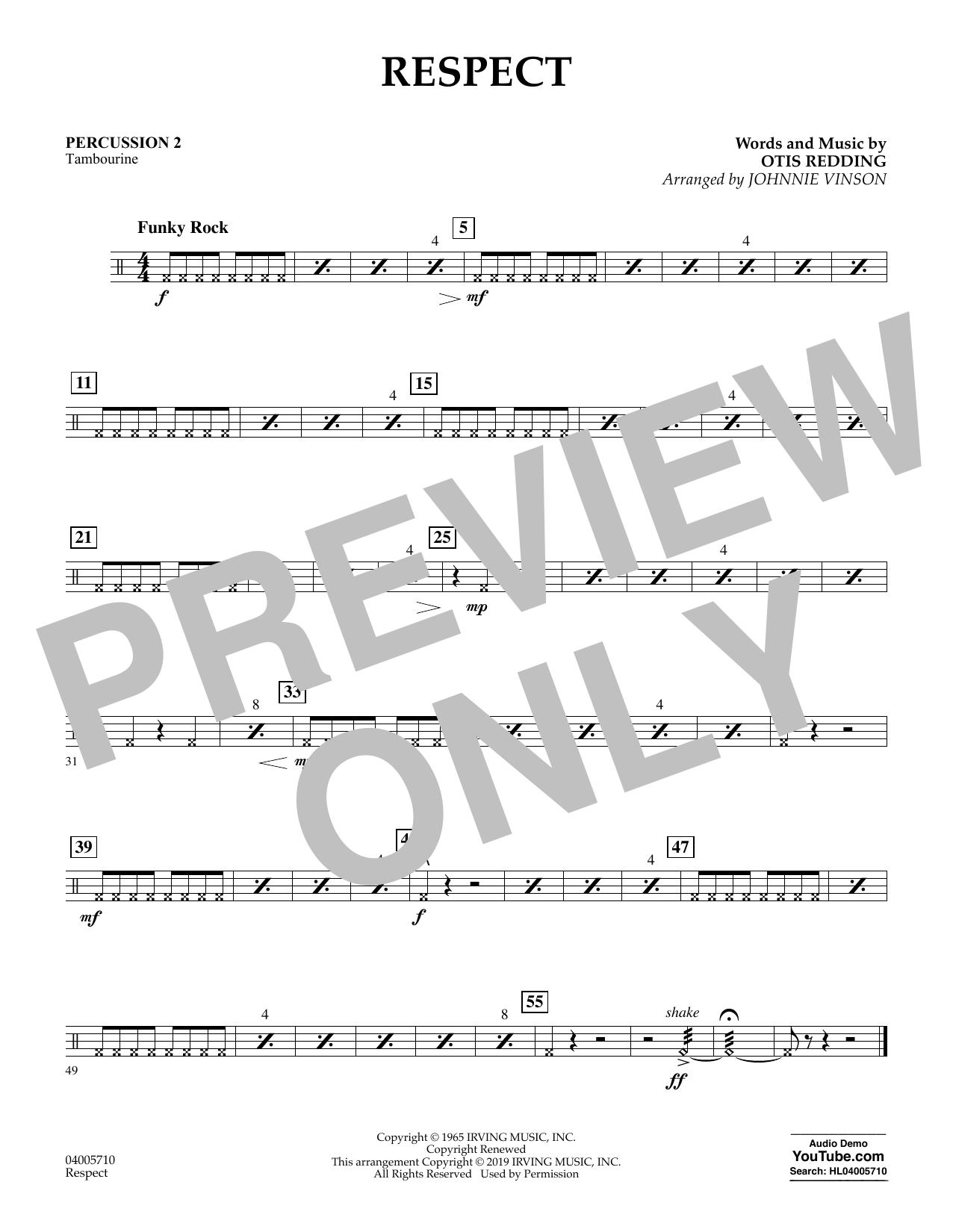 Respect (arr. Johnnie Vinson) - Percussion 2 (Flex-Band)