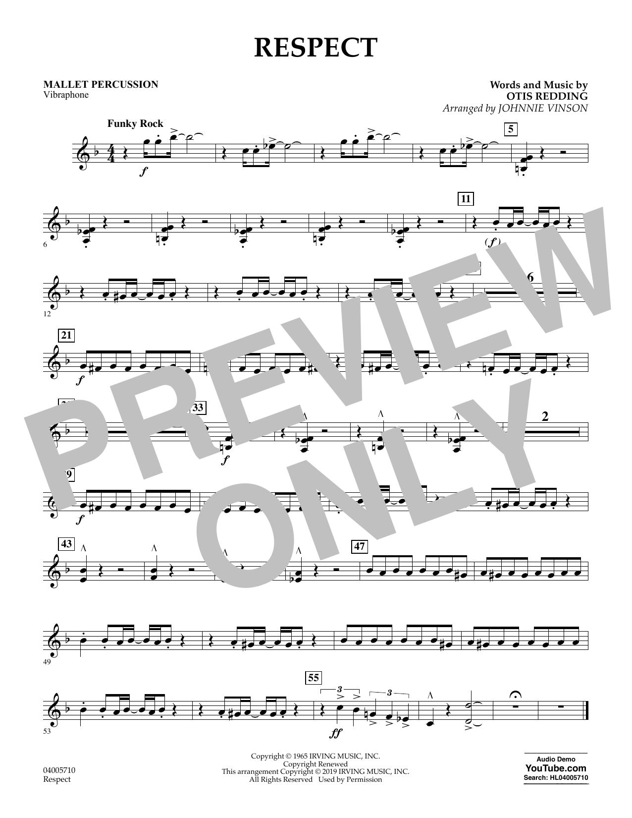 Respect (arr. Johnnie Vinson) - Mallet Percussion (Flex-Band)