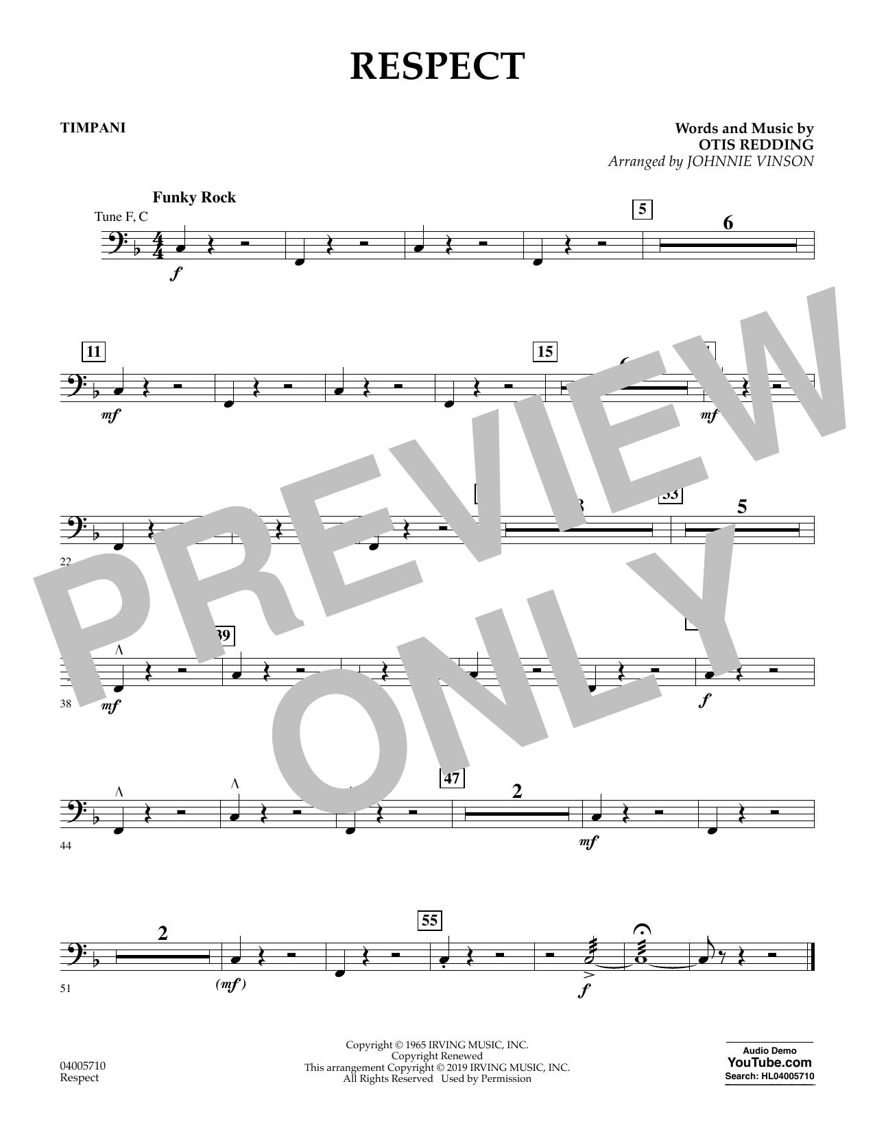 Respect (arr. Johnnie Vinson) - Timpani (Flex-Band)