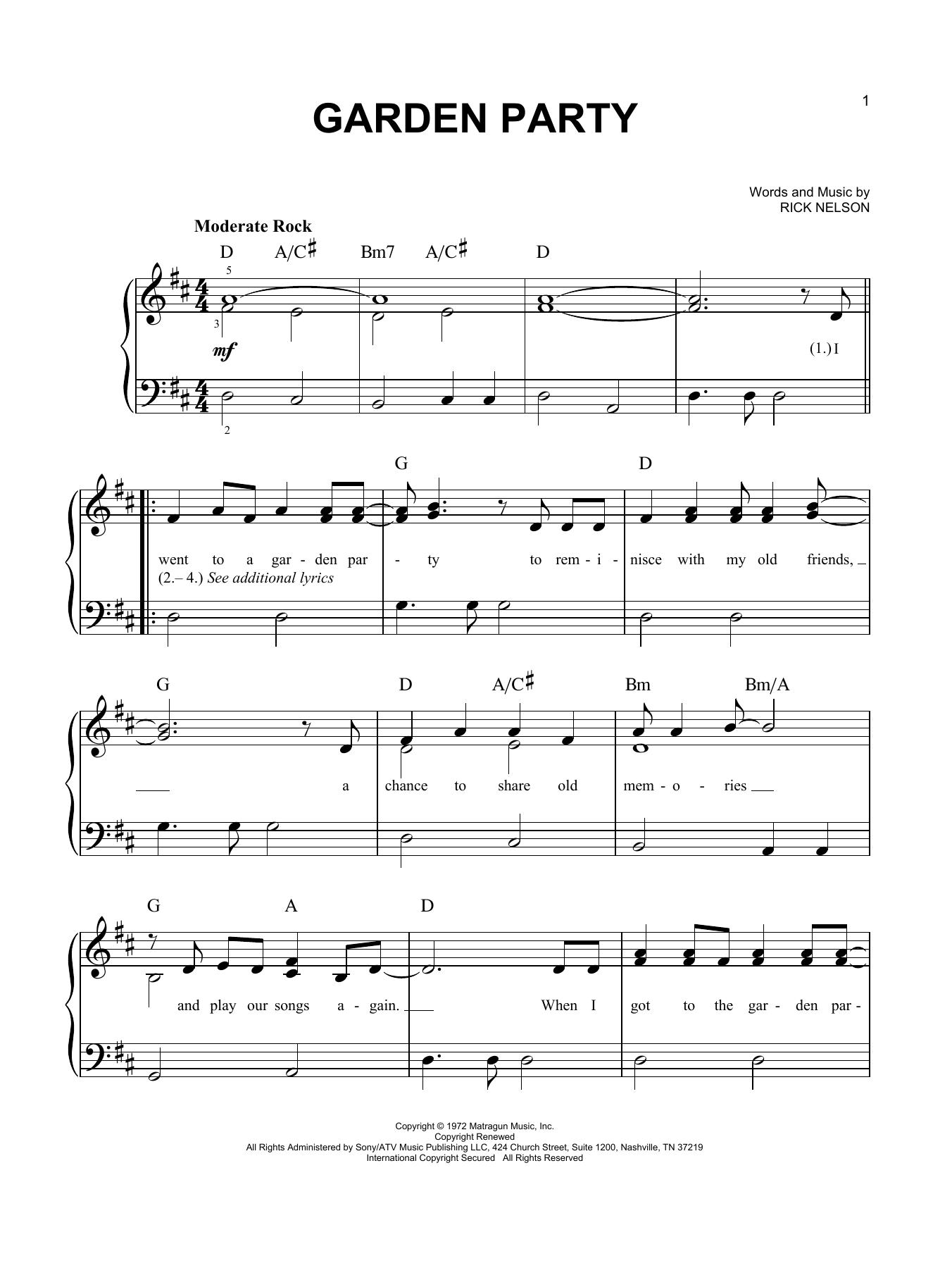 Garden Party (Easy Piano)