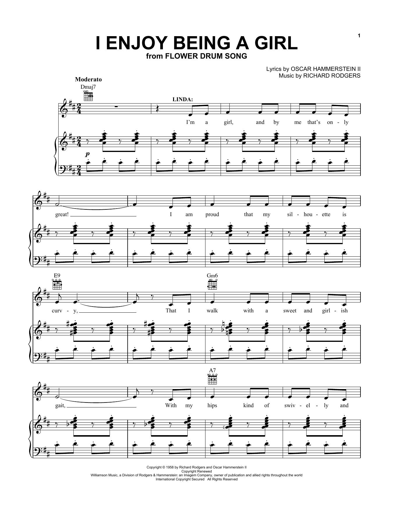 I Enjoy Being A Girl (Vocal Pro + Piano/Guitar)