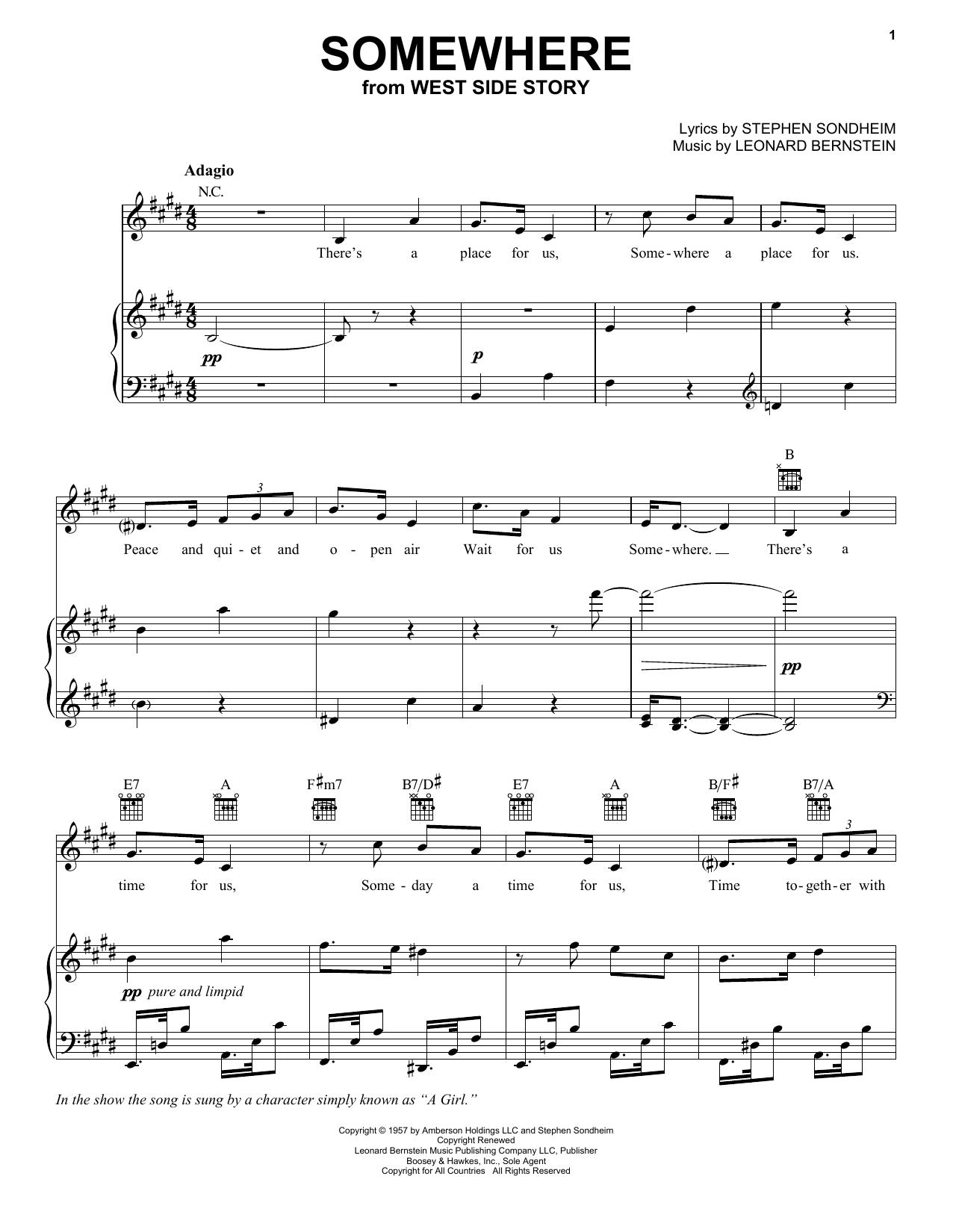 Somewhere (Vocal Pro + Piano/Guitar)