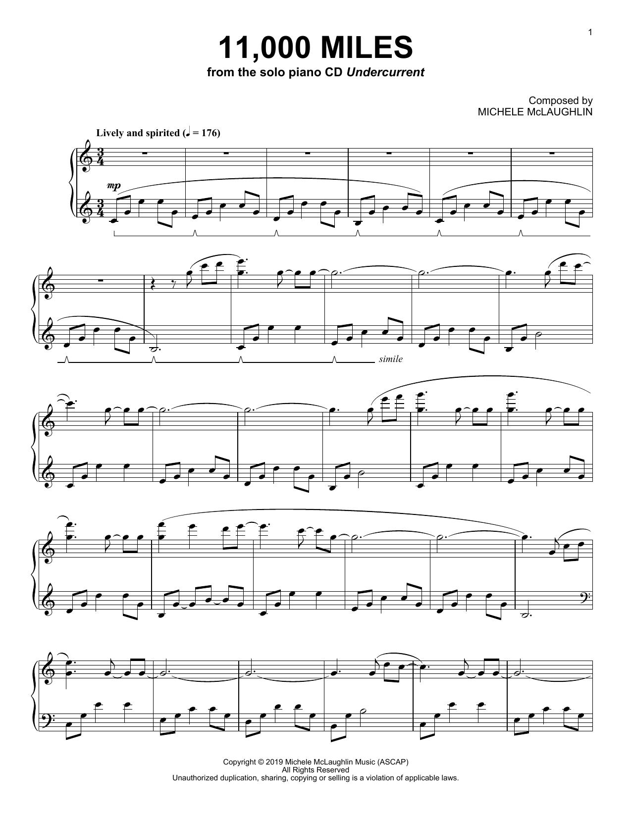 11,000 Miles (Piano Solo)