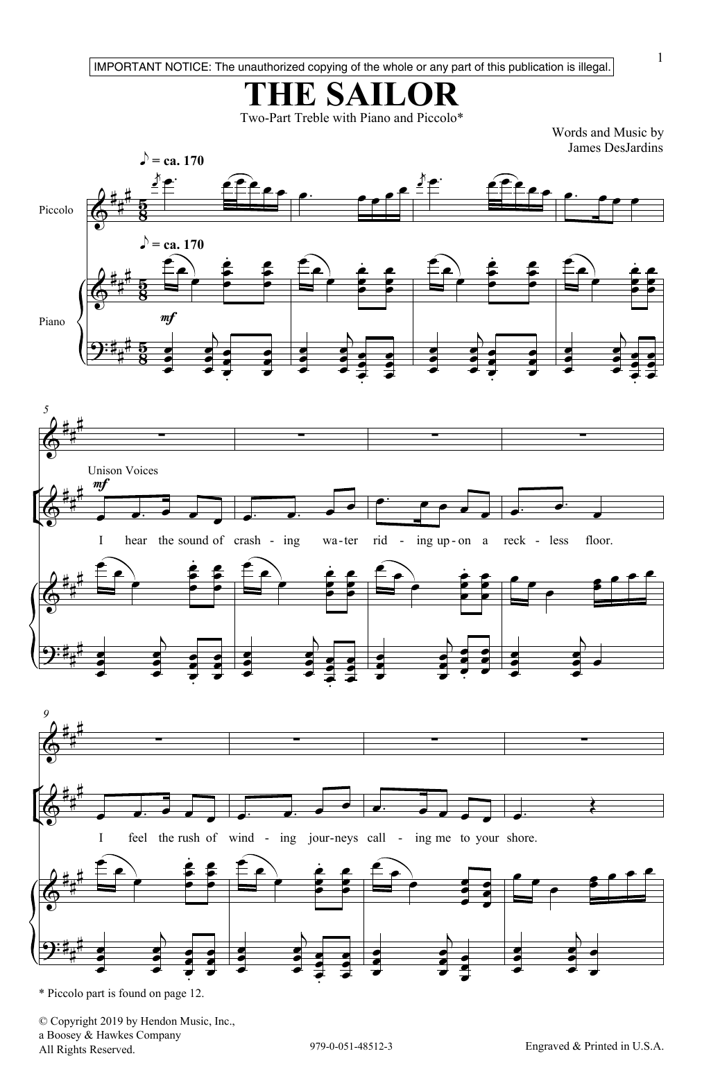 The Sailor (2-Part Choir)