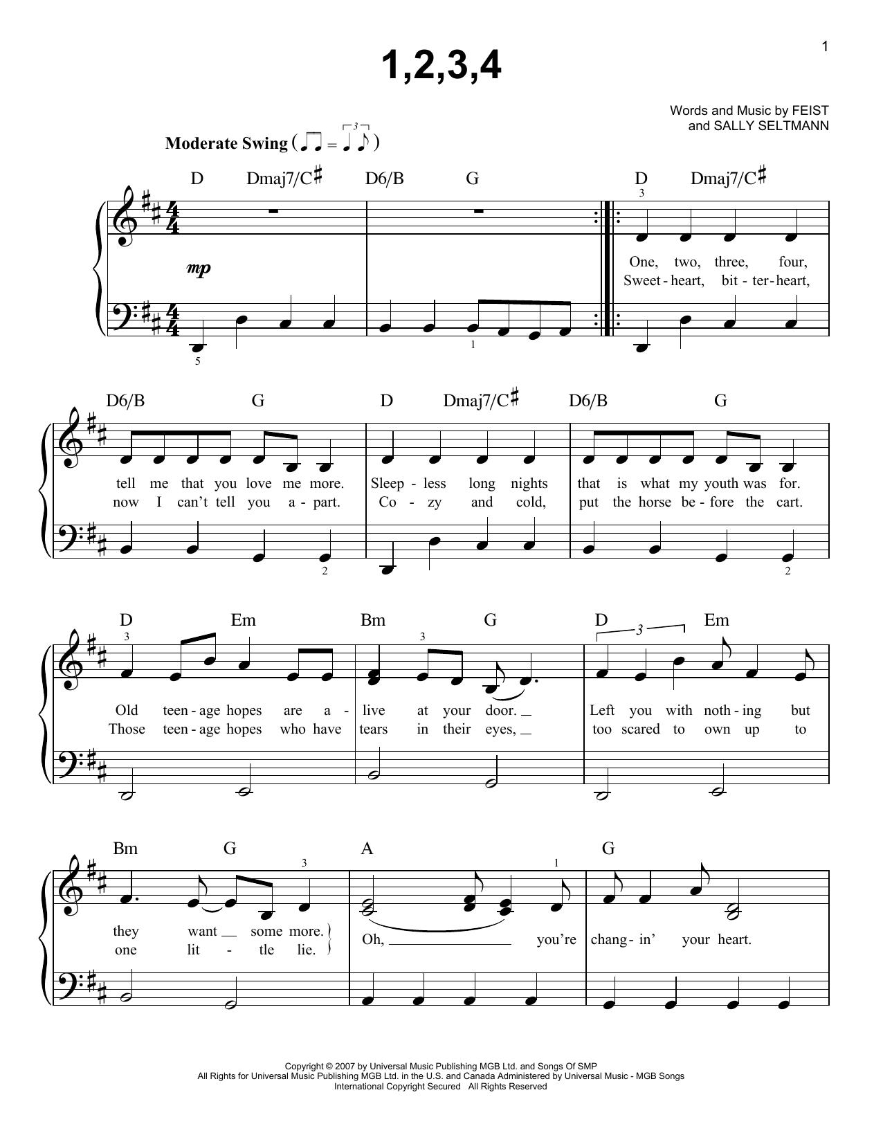 1,2,3,4 (Easy Piano)