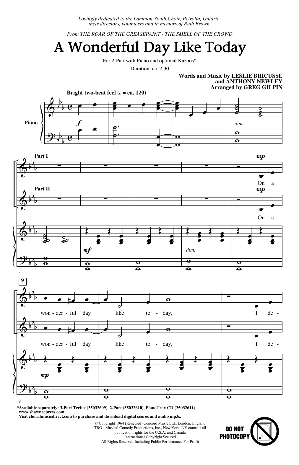 A Wonderful Day Like Today (arr. Greg Gilpin) (2-Part Choir)