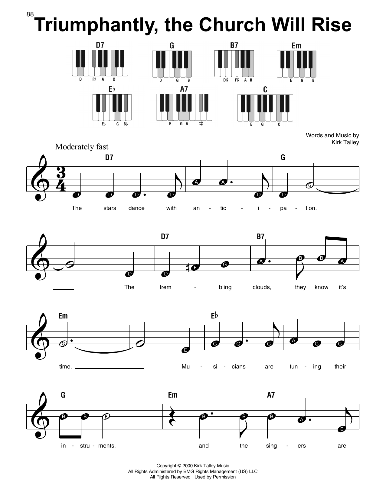 Triumphantly, The Church Will Rise (Super Easy Piano)