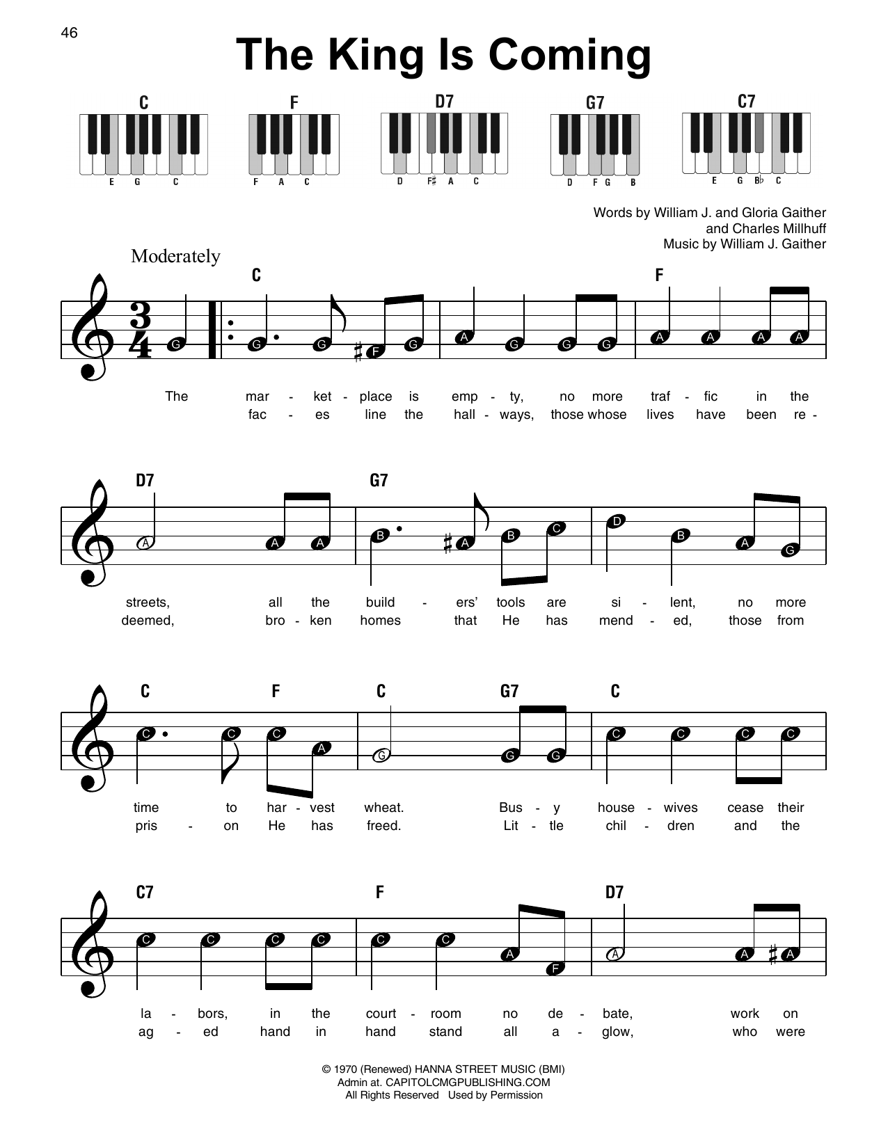 The King Is Coming (Super Easy Piano)
