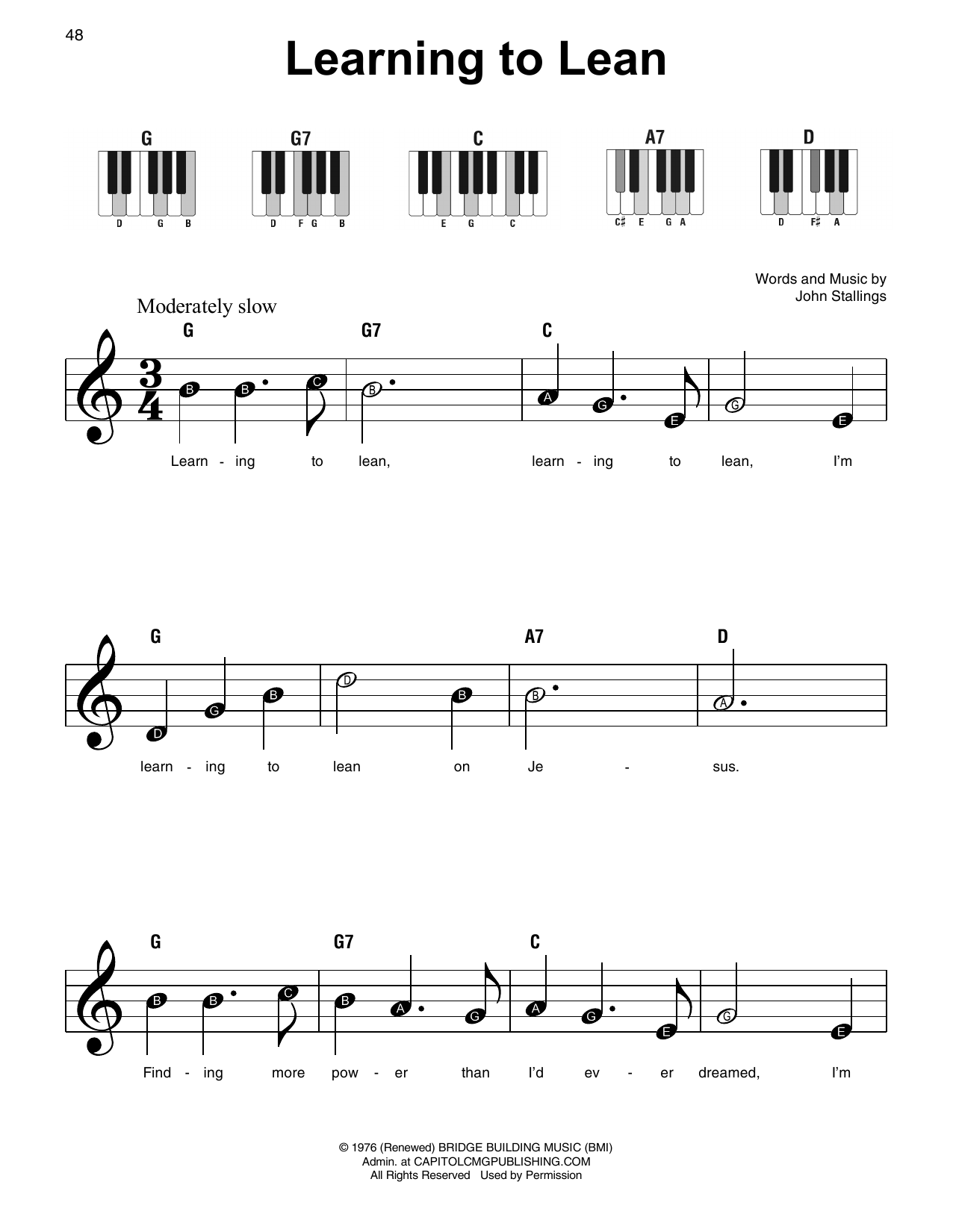 Learning To Lean (Super Easy Piano)