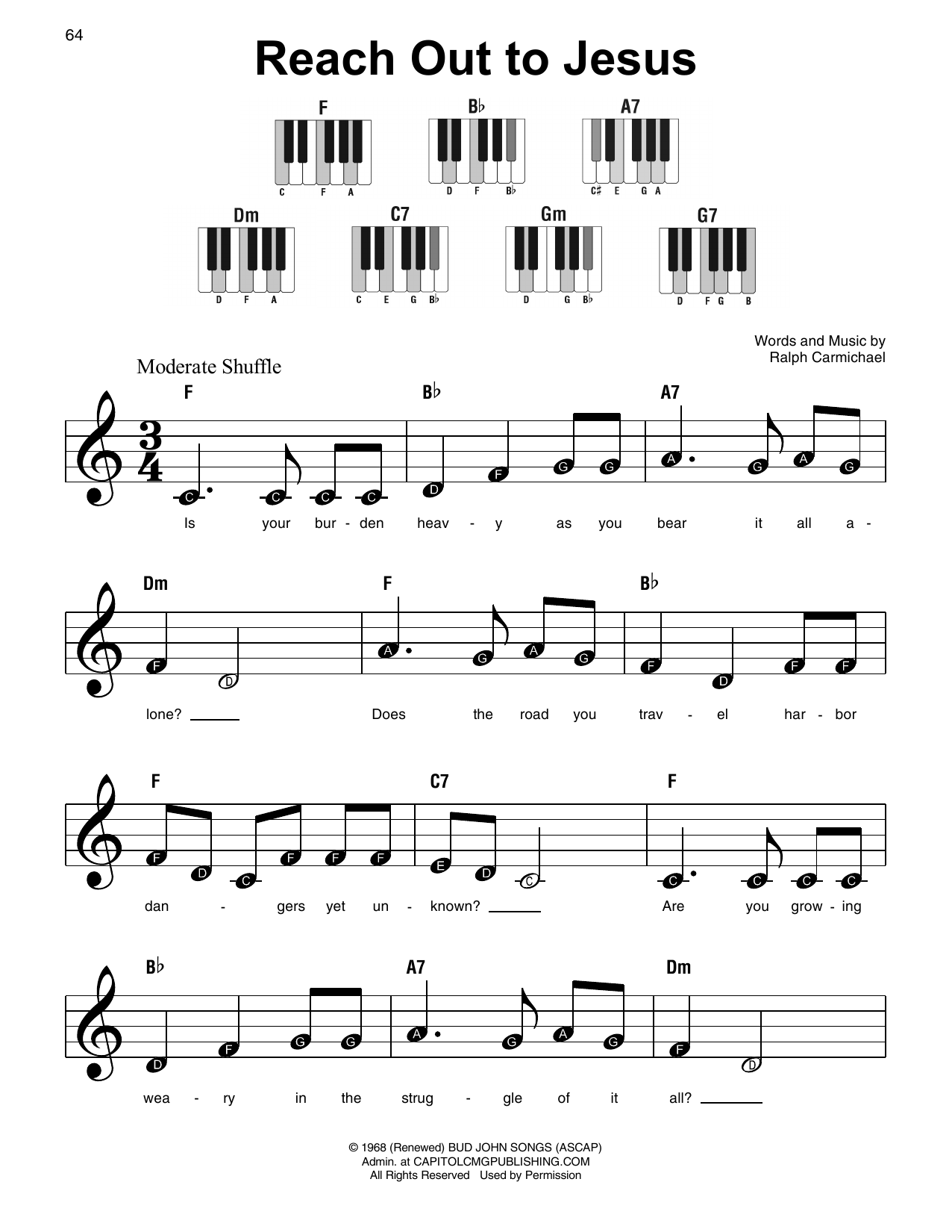 Reach Out To Jesus (Super Easy Piano)