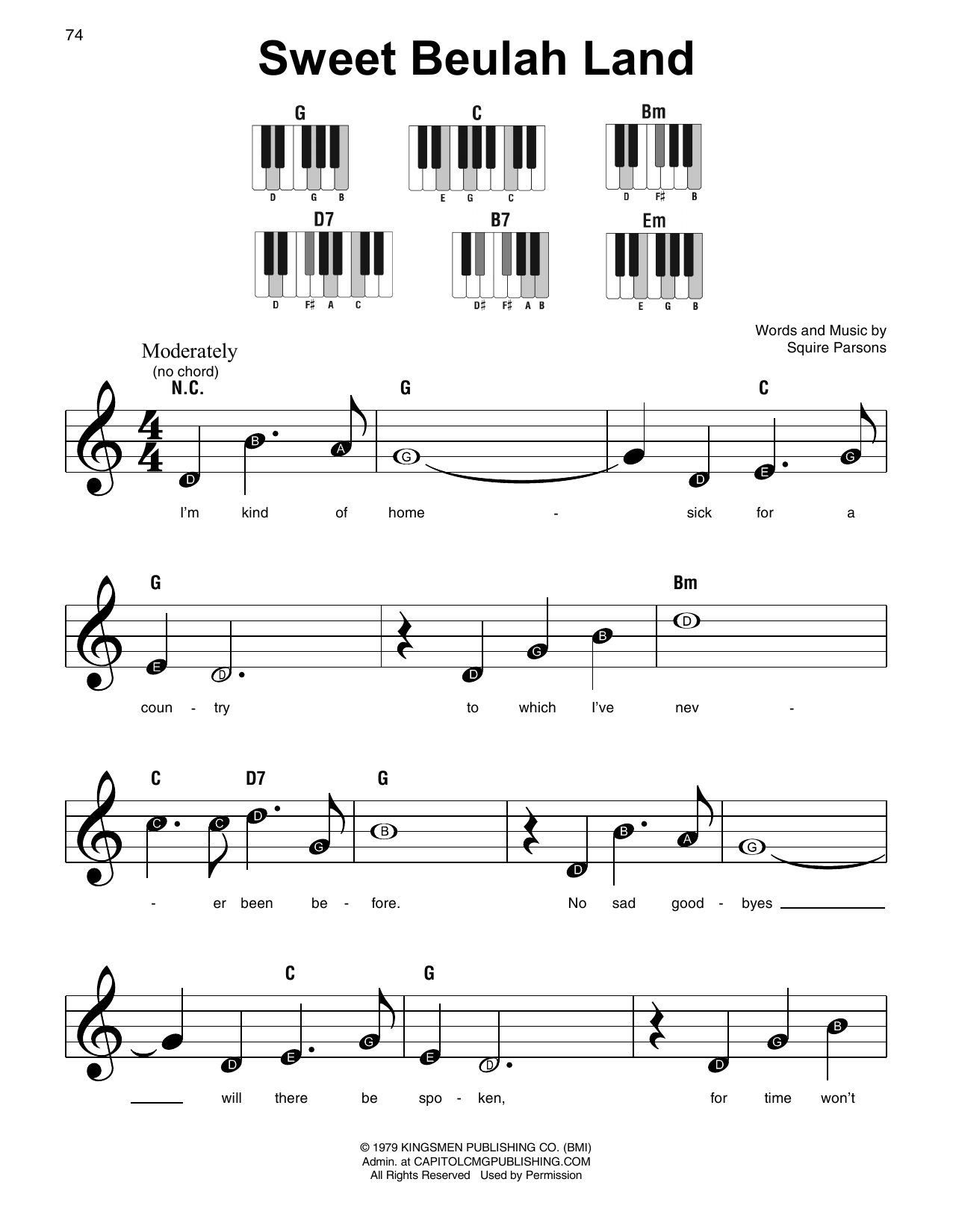 Sweet Beulah Land Sheet Music