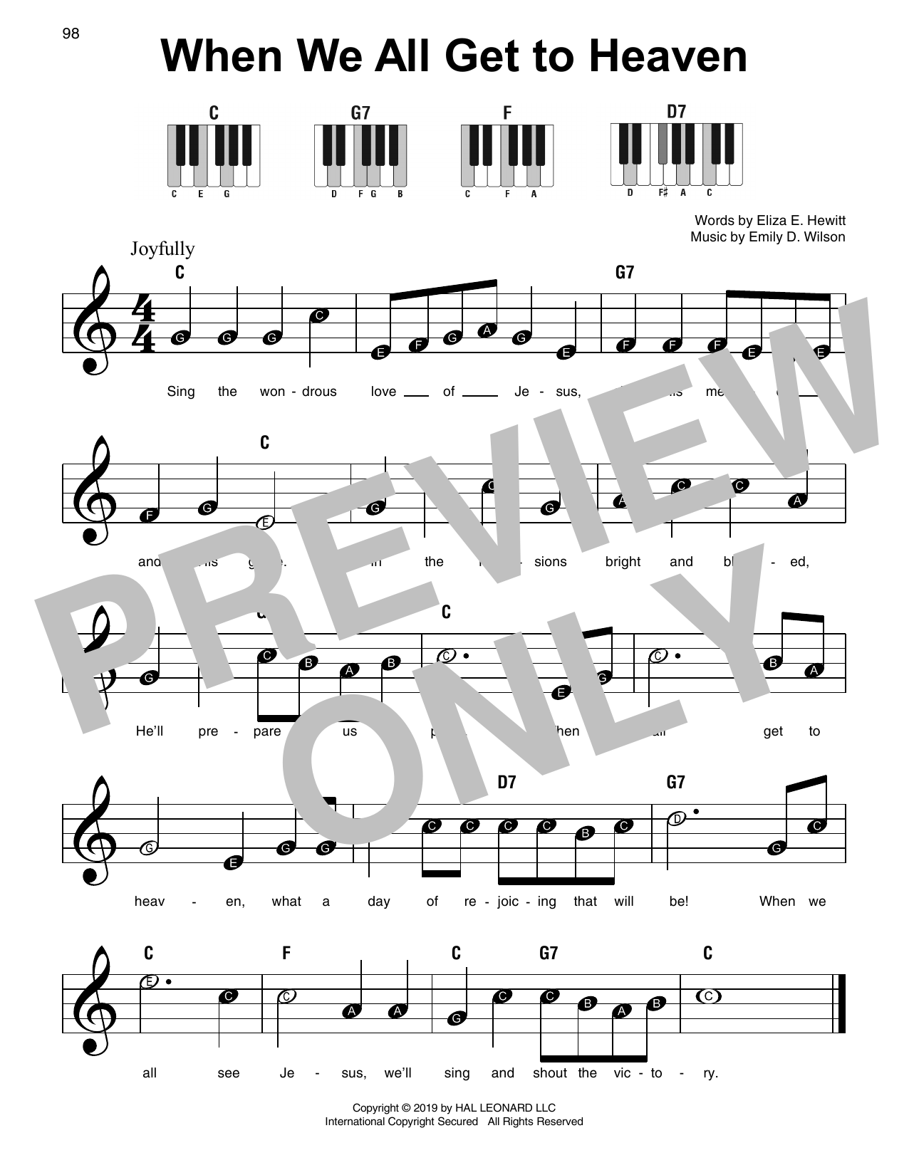 When We All Get To Heaven (Super Easy Piano)
