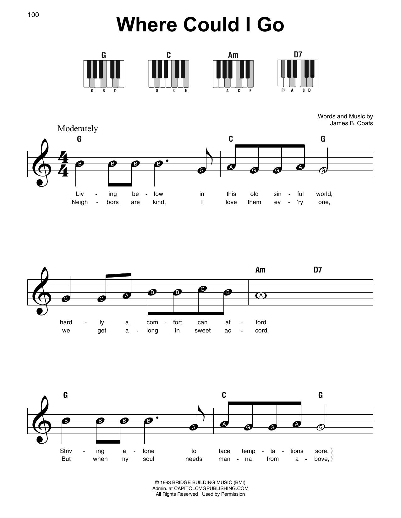 Where Could I Go (Super Easy Piano)