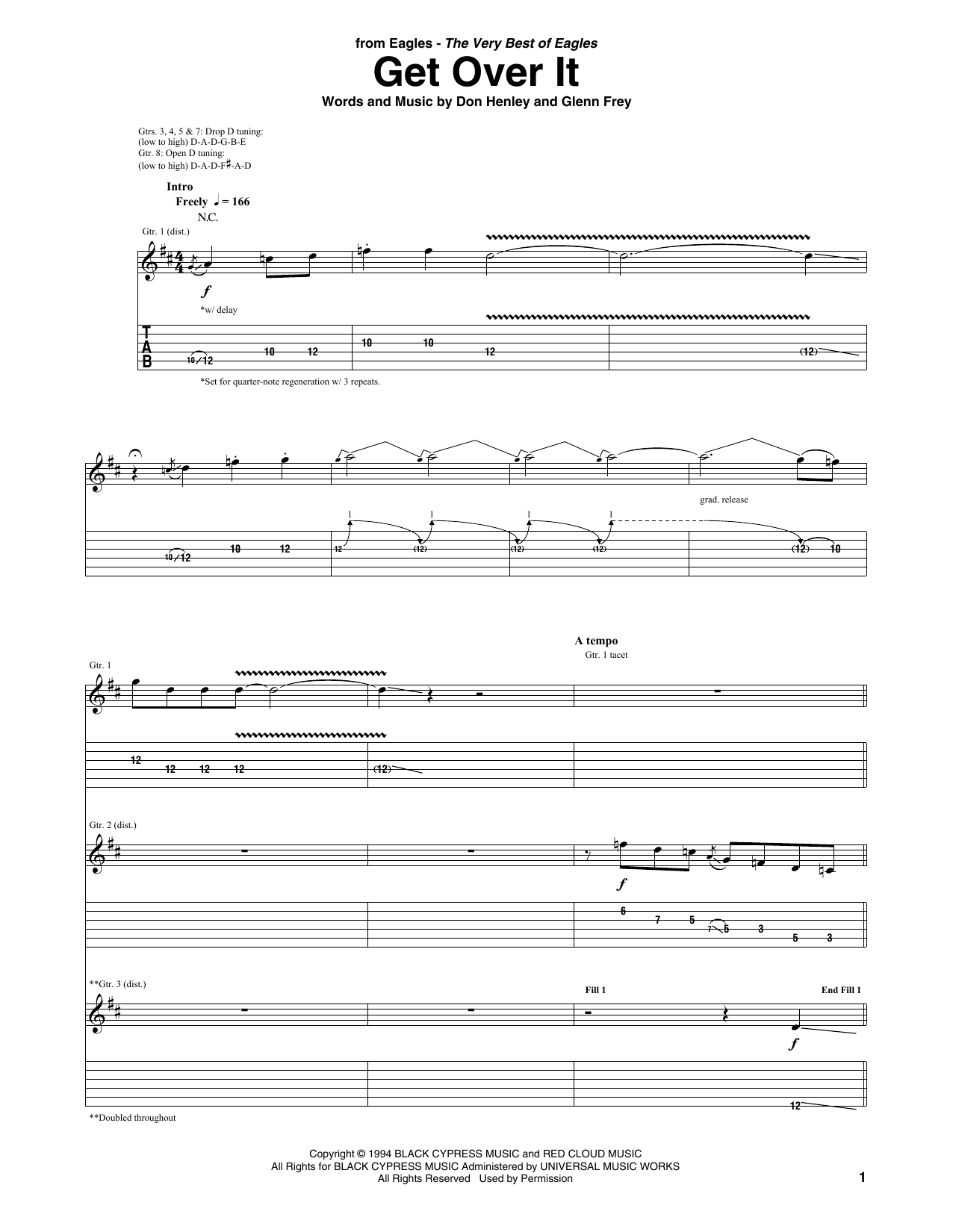 Get Over It (Guitar Tab)