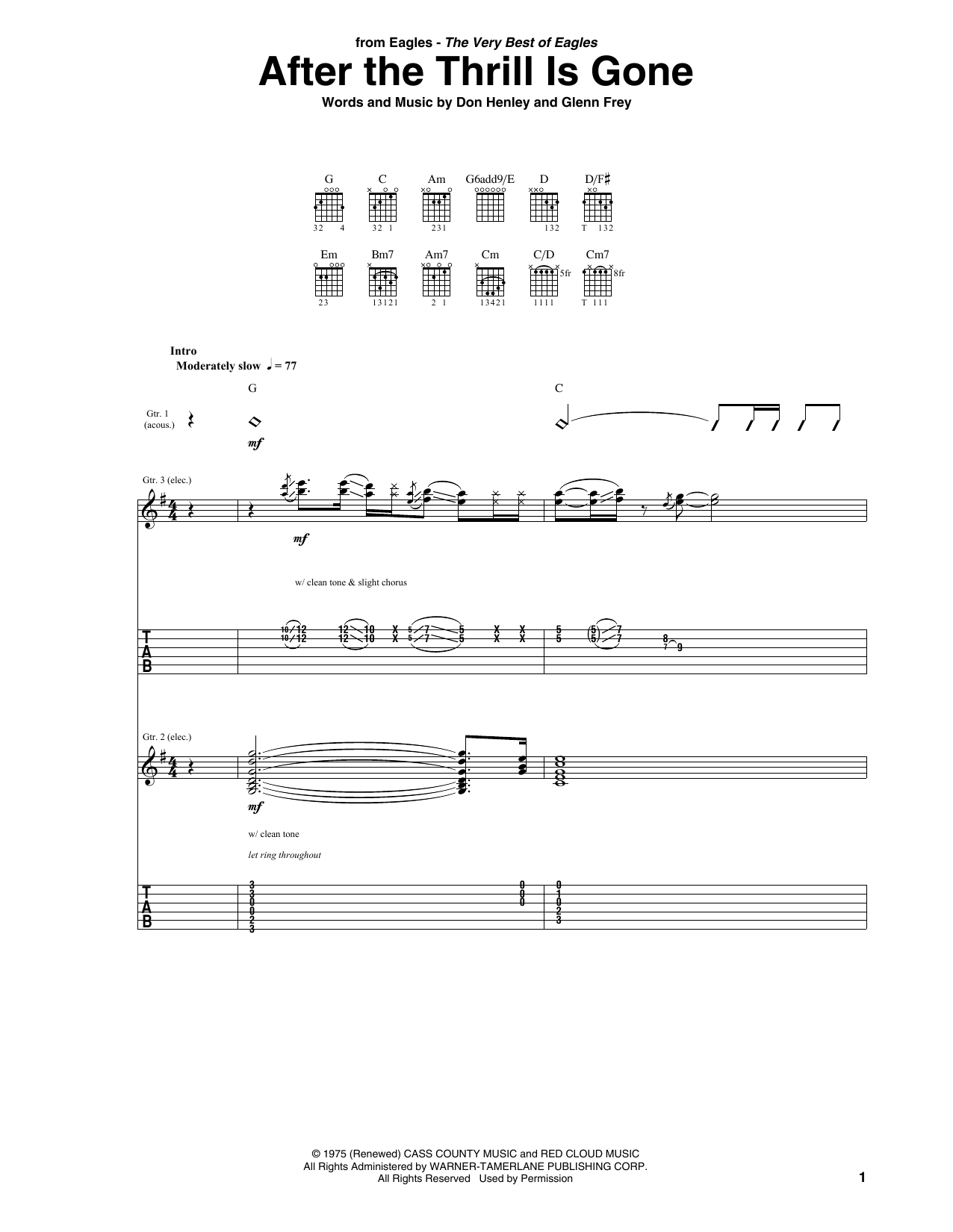 After The Thrill Is Gone (Guitar Tab)