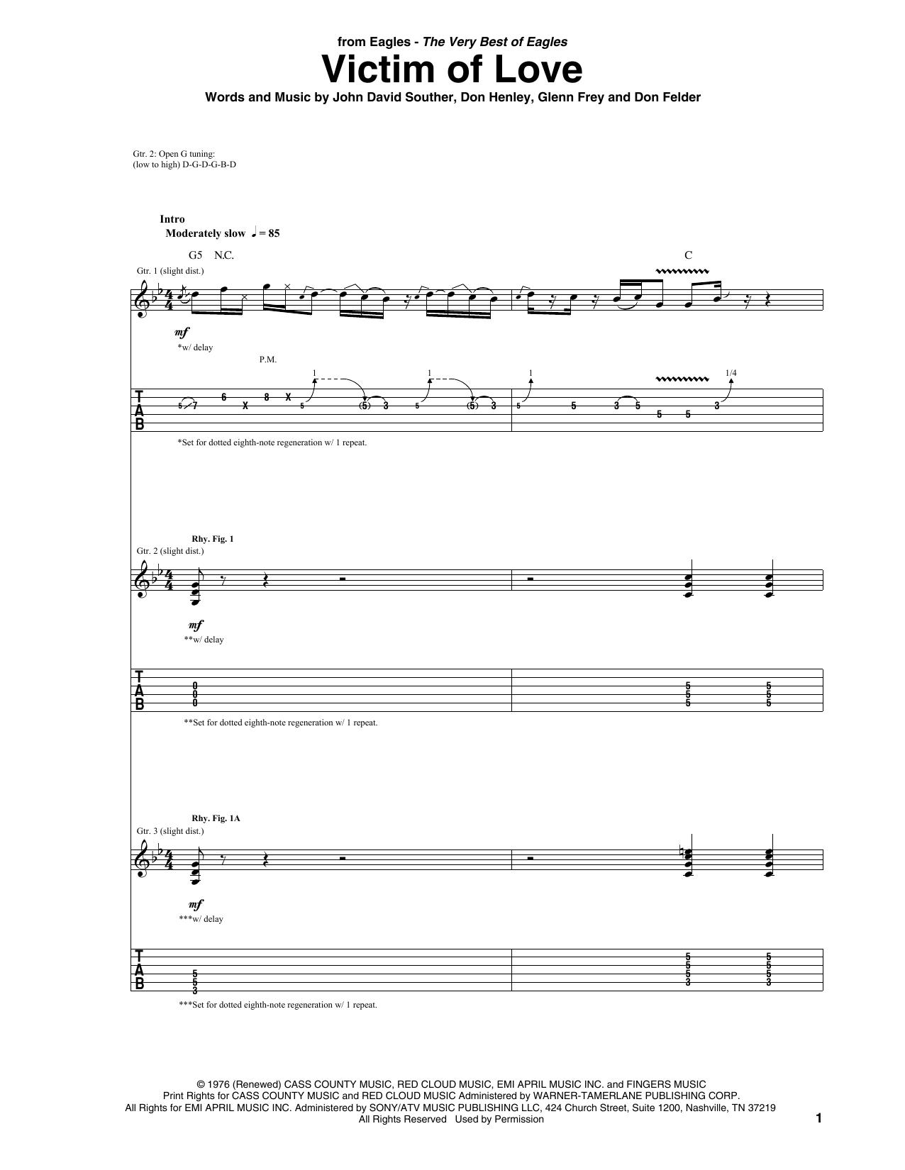 Victim Of Love (Guitar Tab)