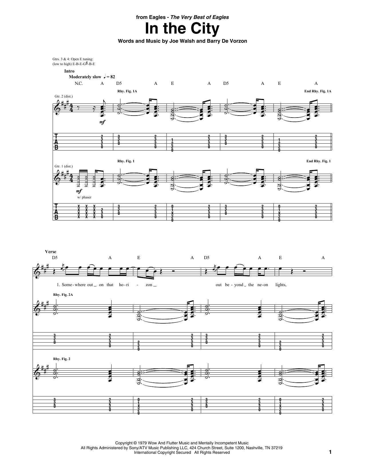 In The City (Guitar Tab)