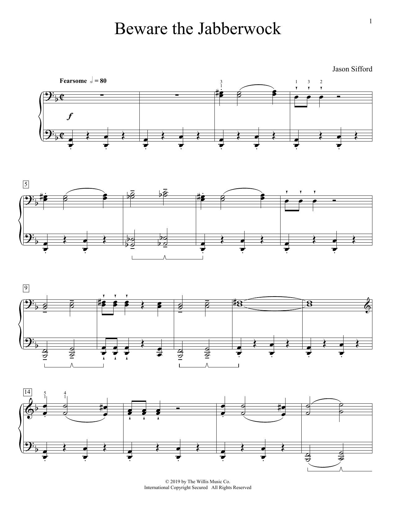 Beware The Jabberwock (Educational Piano)