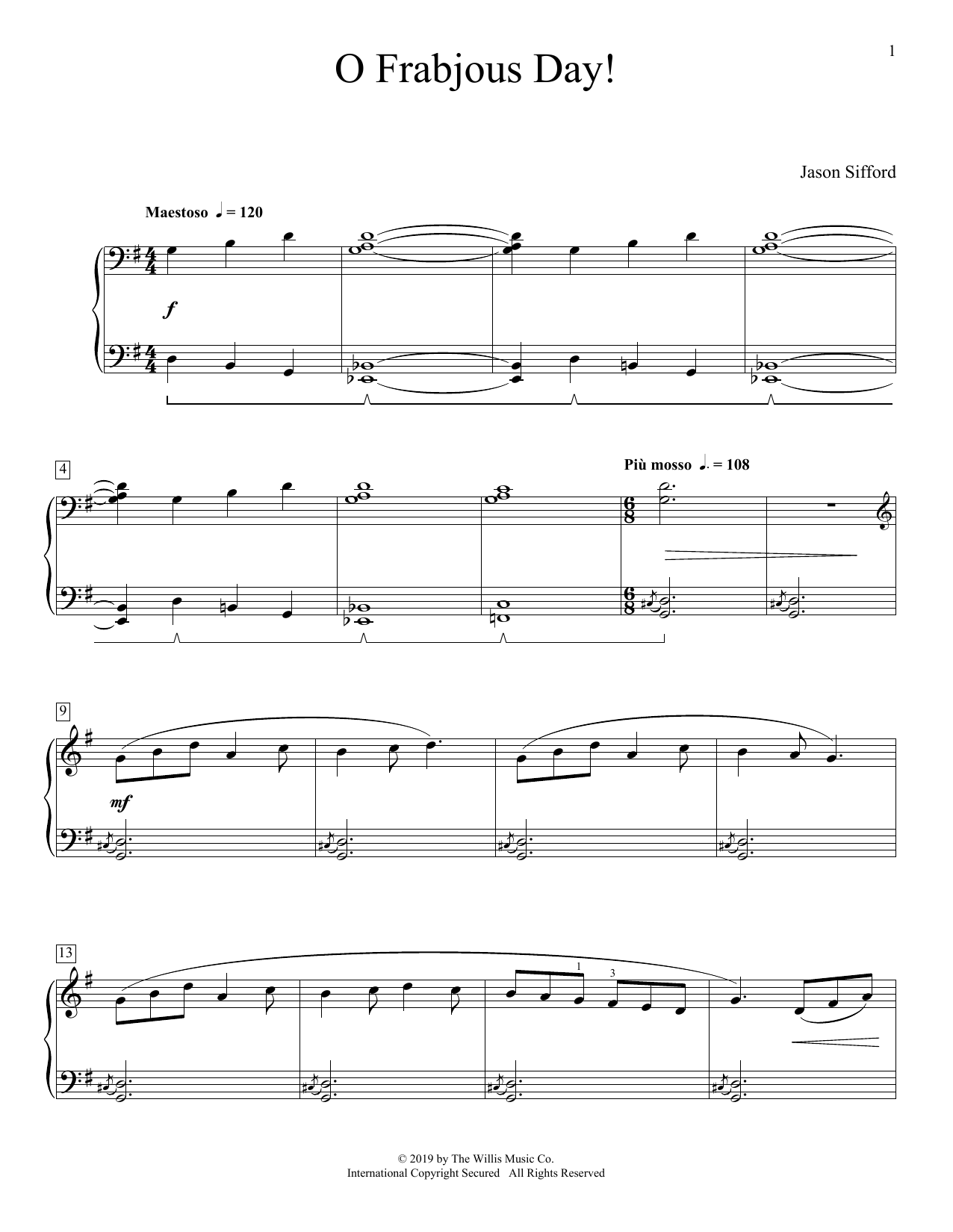 O Frabjous Day! (Educational Piano)