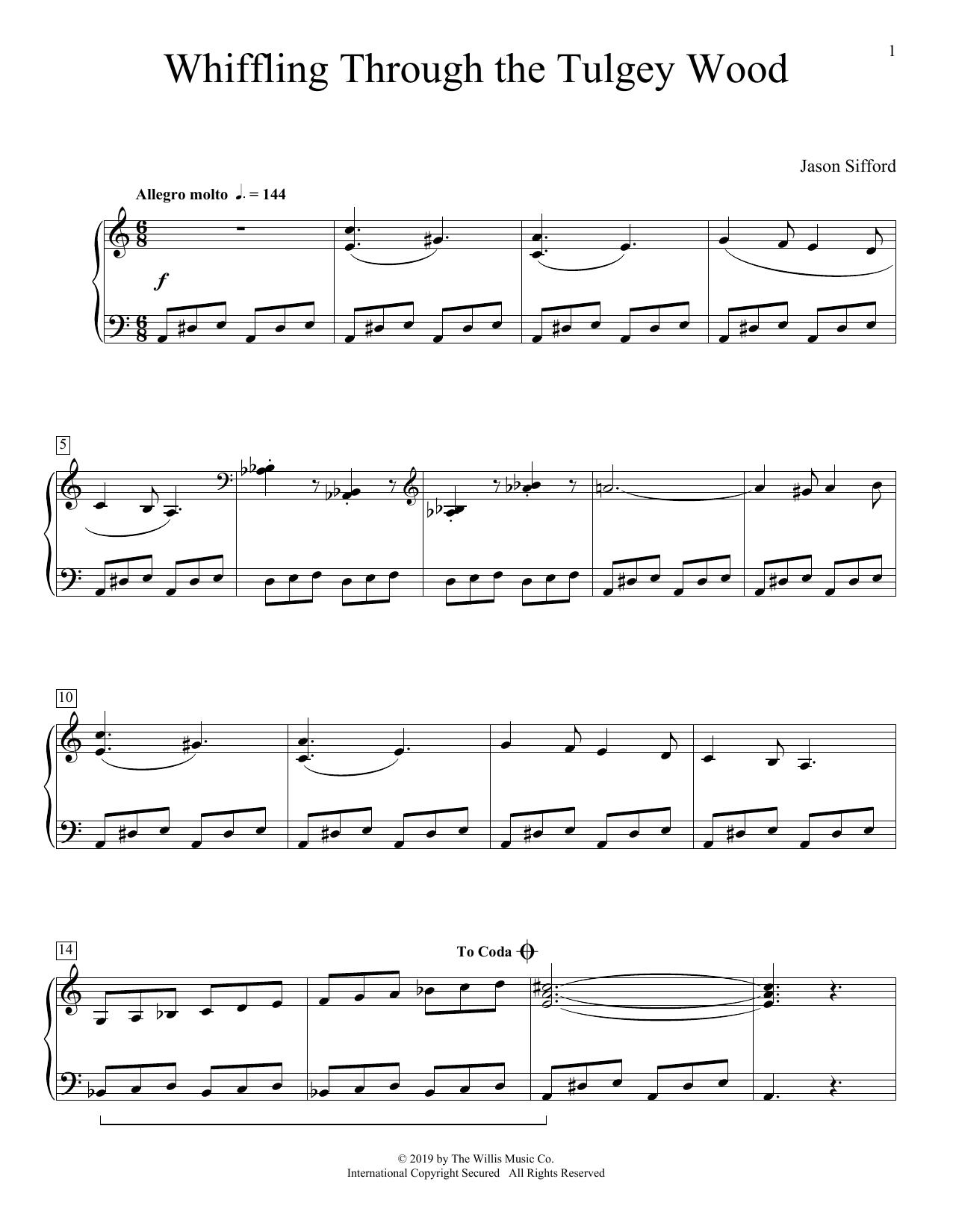 Whiffling Through The Tulgey Wood (Educational Piano)