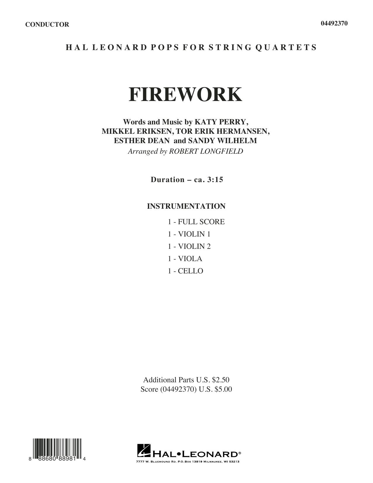 Firework (arr. Robert Longfield) - Conductor Score (Full Score) (Orchestra)