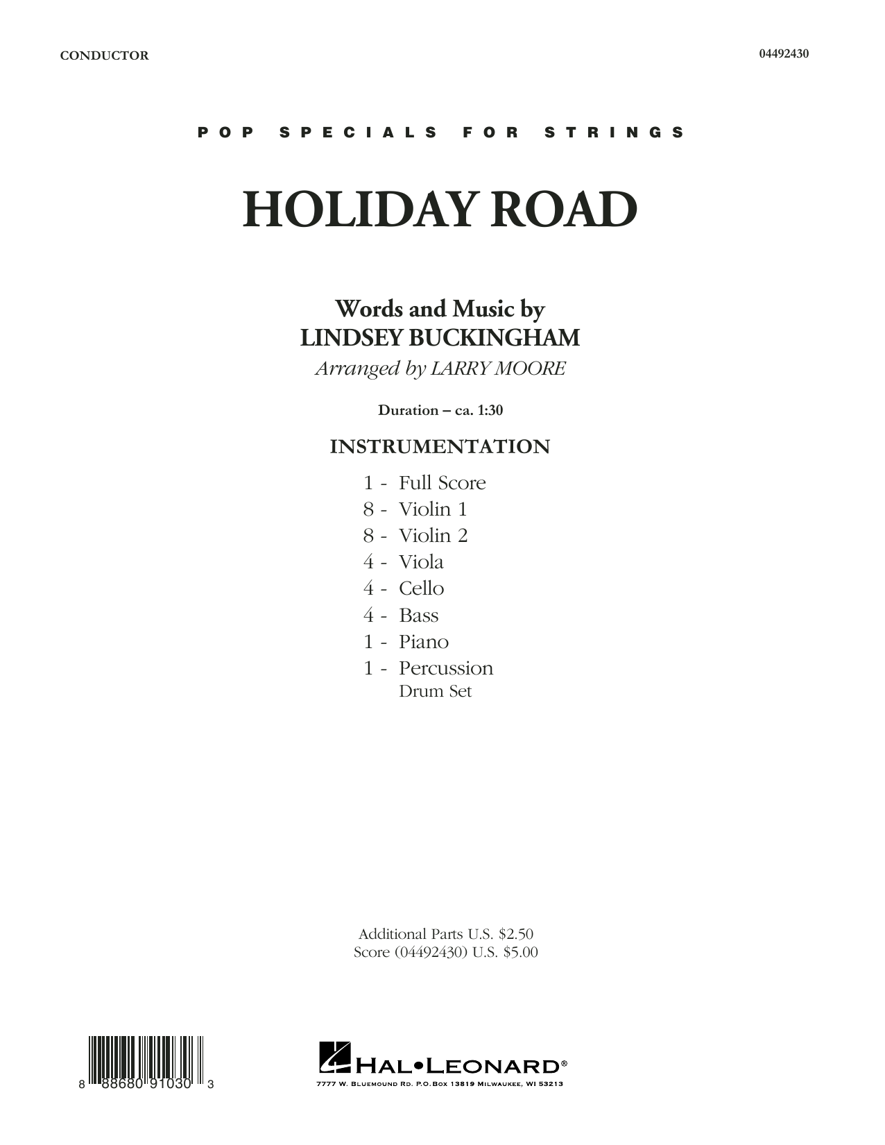 Holiday Road (from National Lampoon's Vacation) (arr. Larry Moore) - Conductor Score (Full Score) (Orchestra)