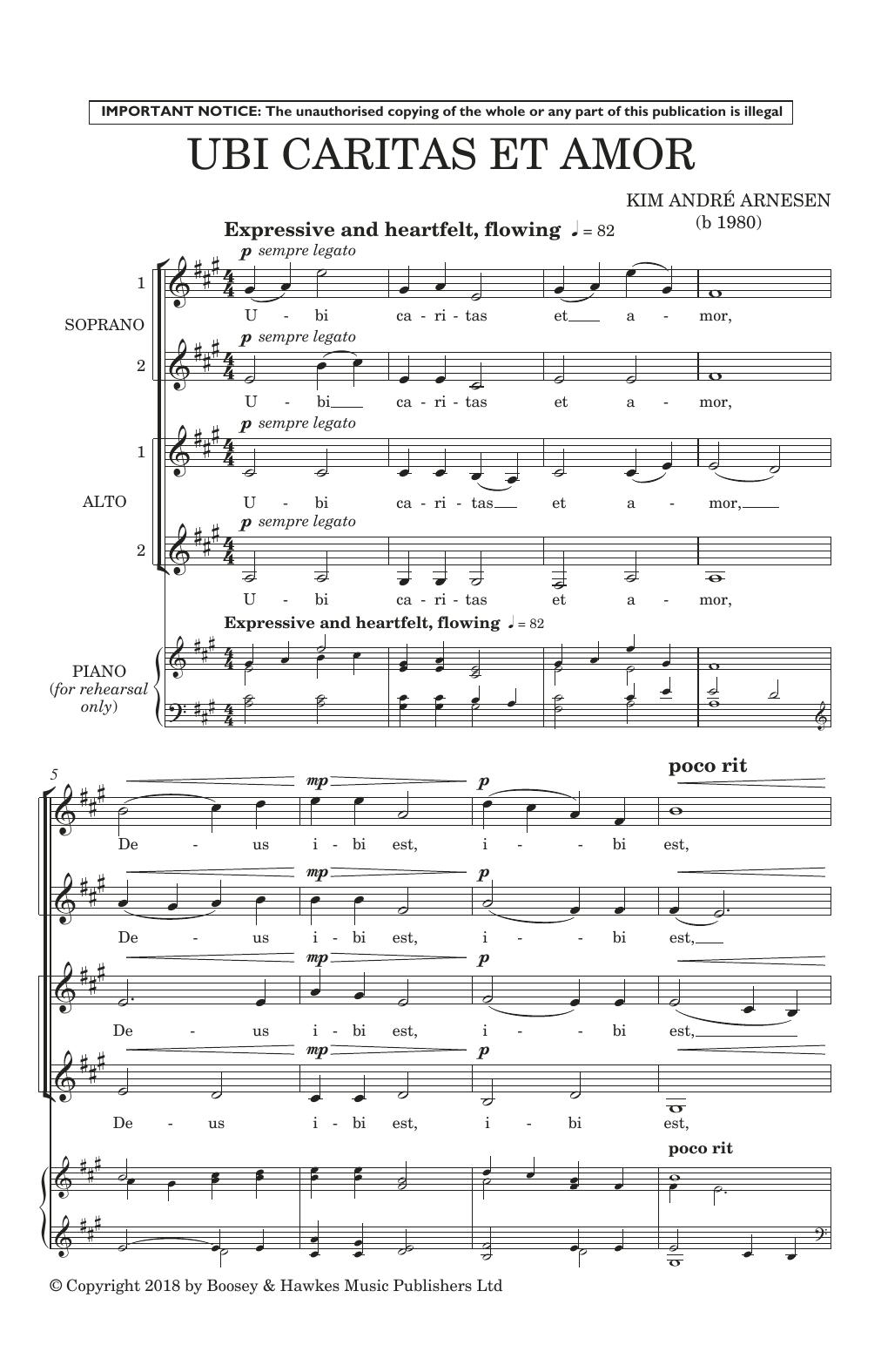 Ubi Caritas Et Amor (SSA Choir)