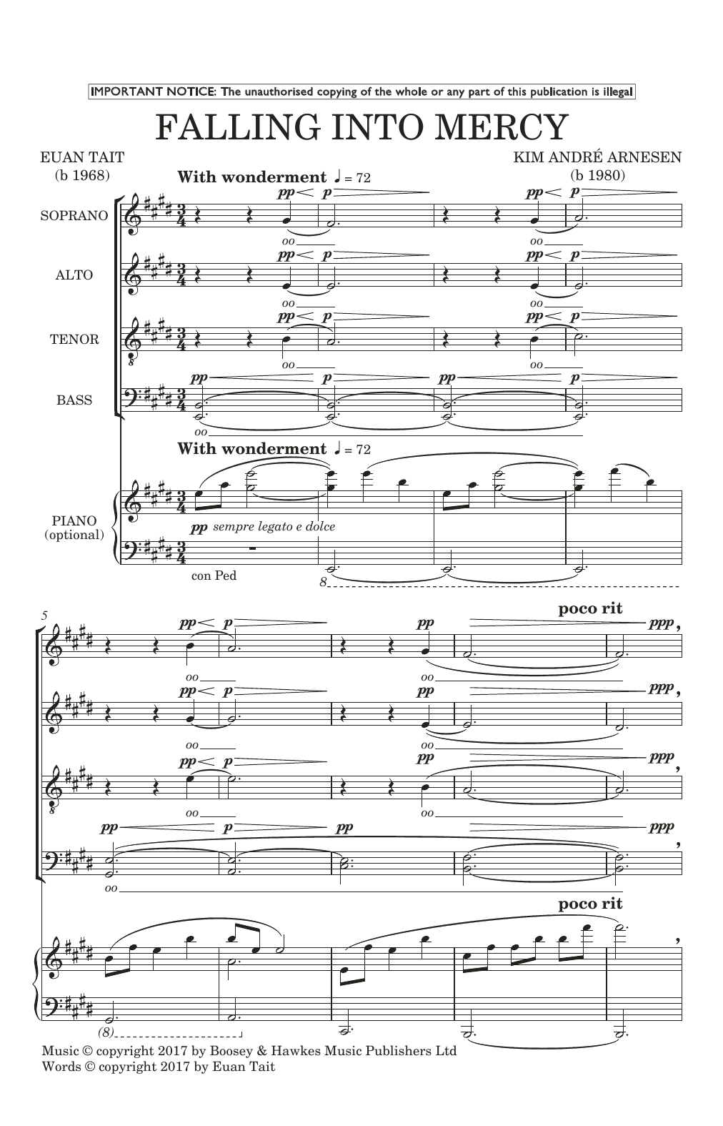 Falling Into Mercy (SATB Choir)