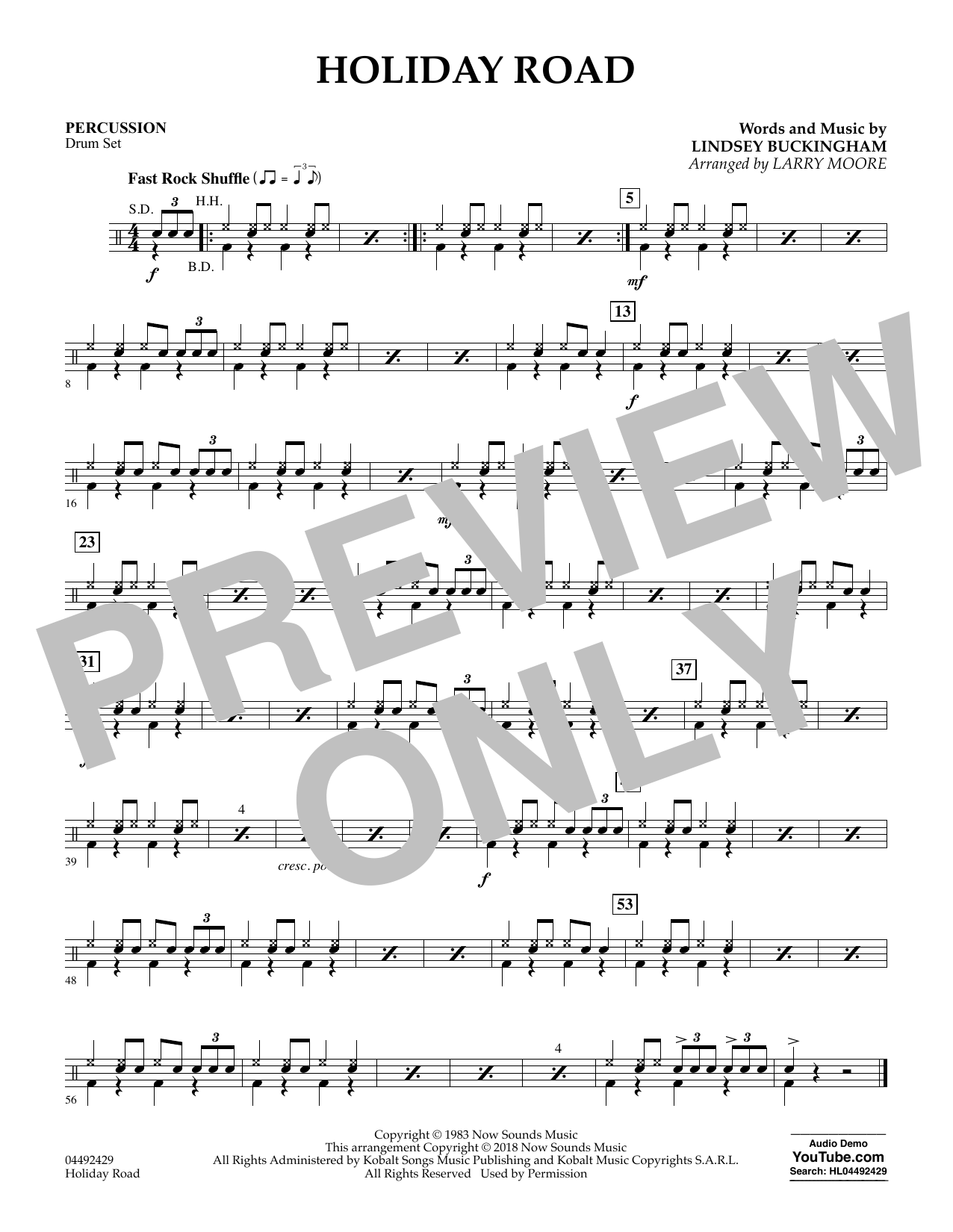 Holiday Road (from National Lampoon's Vacation) (arr. Larry Moore) - Percussion (Orchestra)