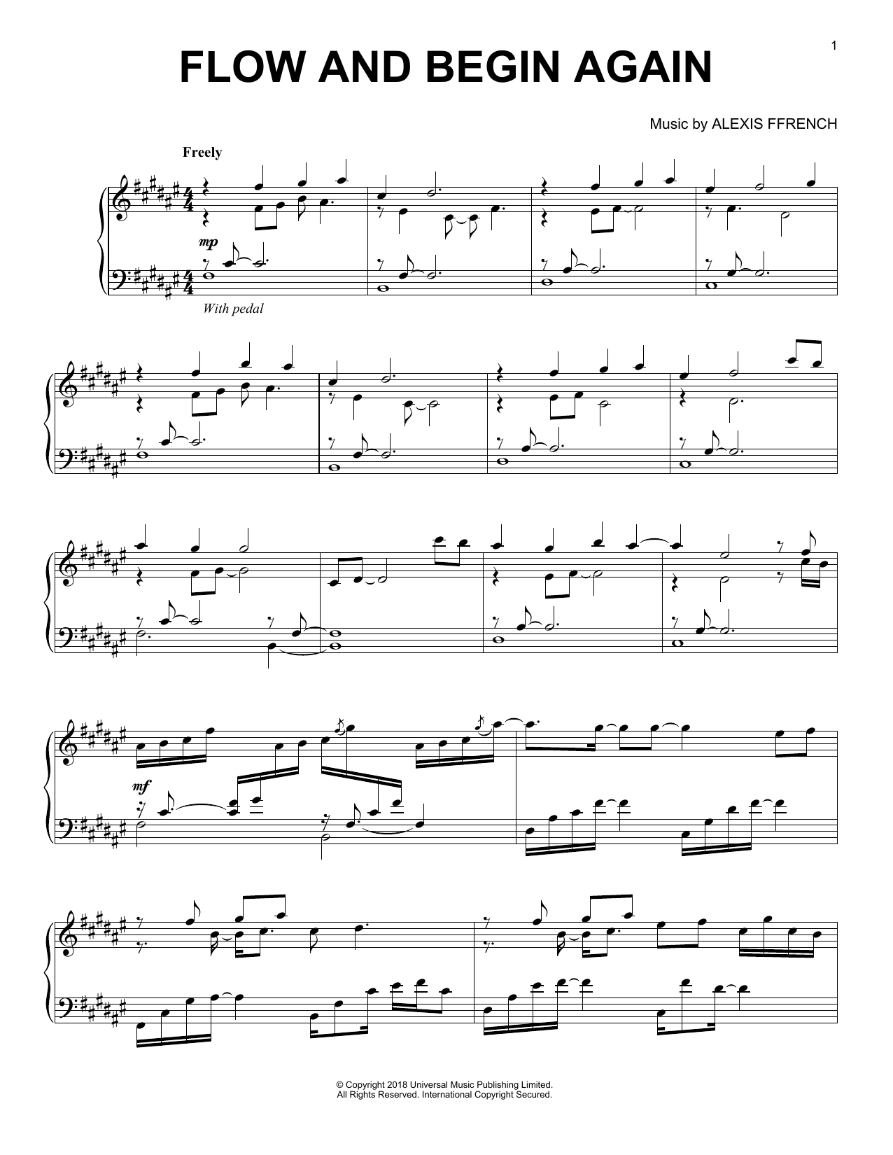 Flow And Begin Again (Piano Solo)