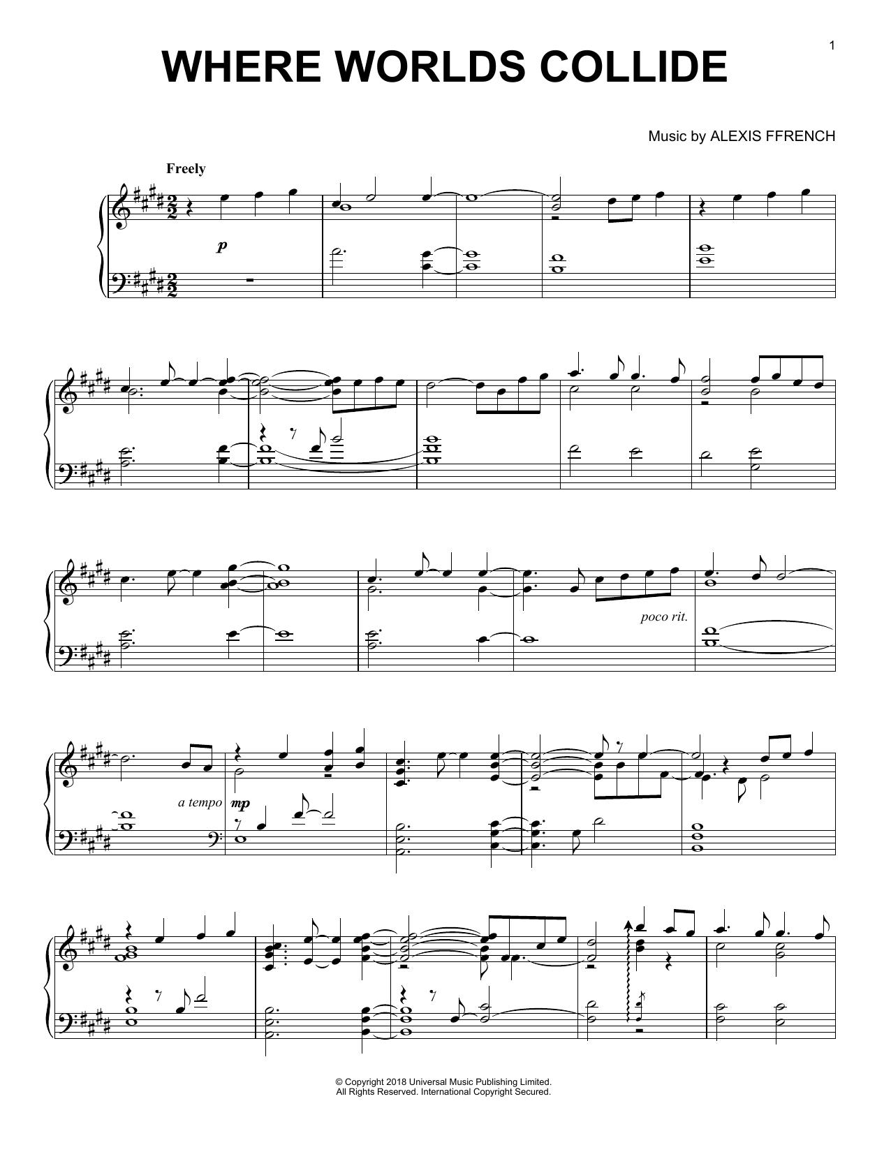 Where Worlds Collide (Piano Solo)