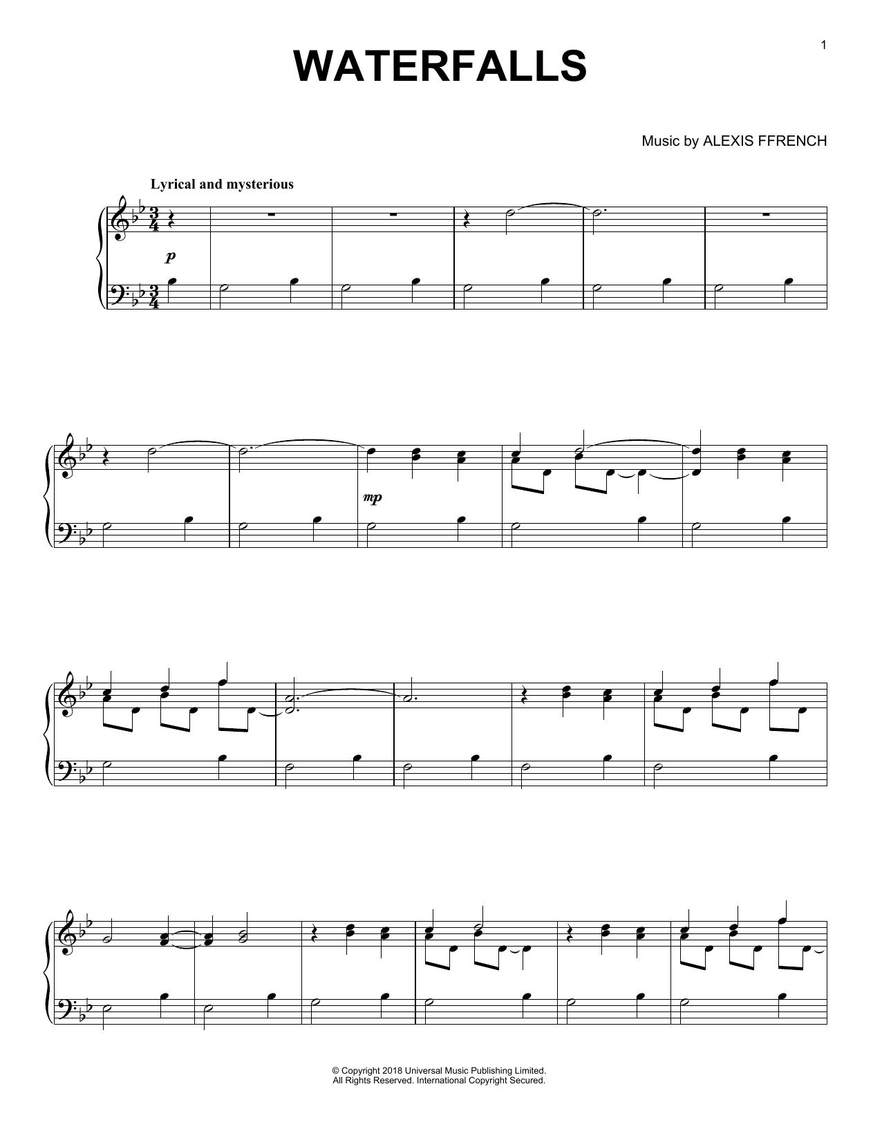 Waterfalls (Piano Solo)