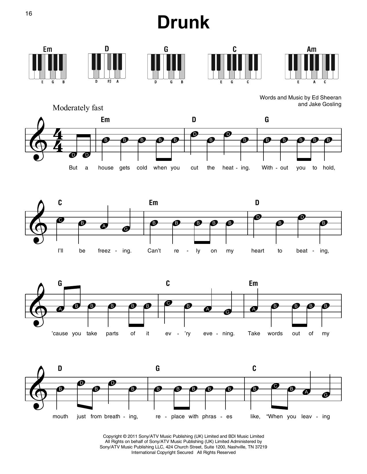 Drunk (Super Easy Piano)