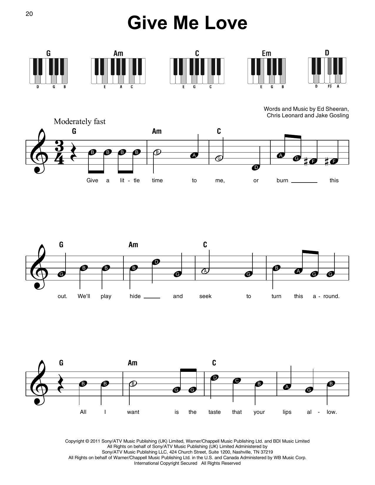 Give Me Love (Super Easy Piano)