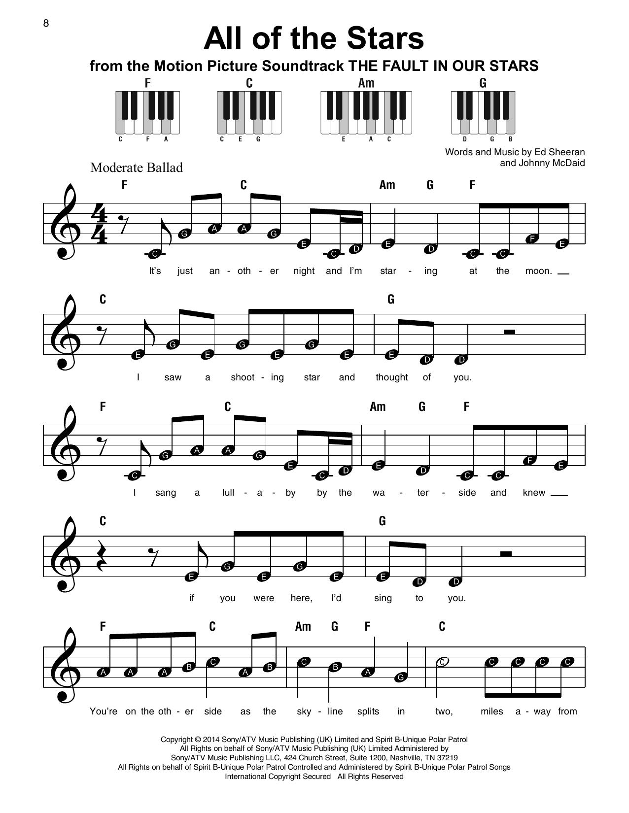 All Of The Stars (Super Easy Piano)