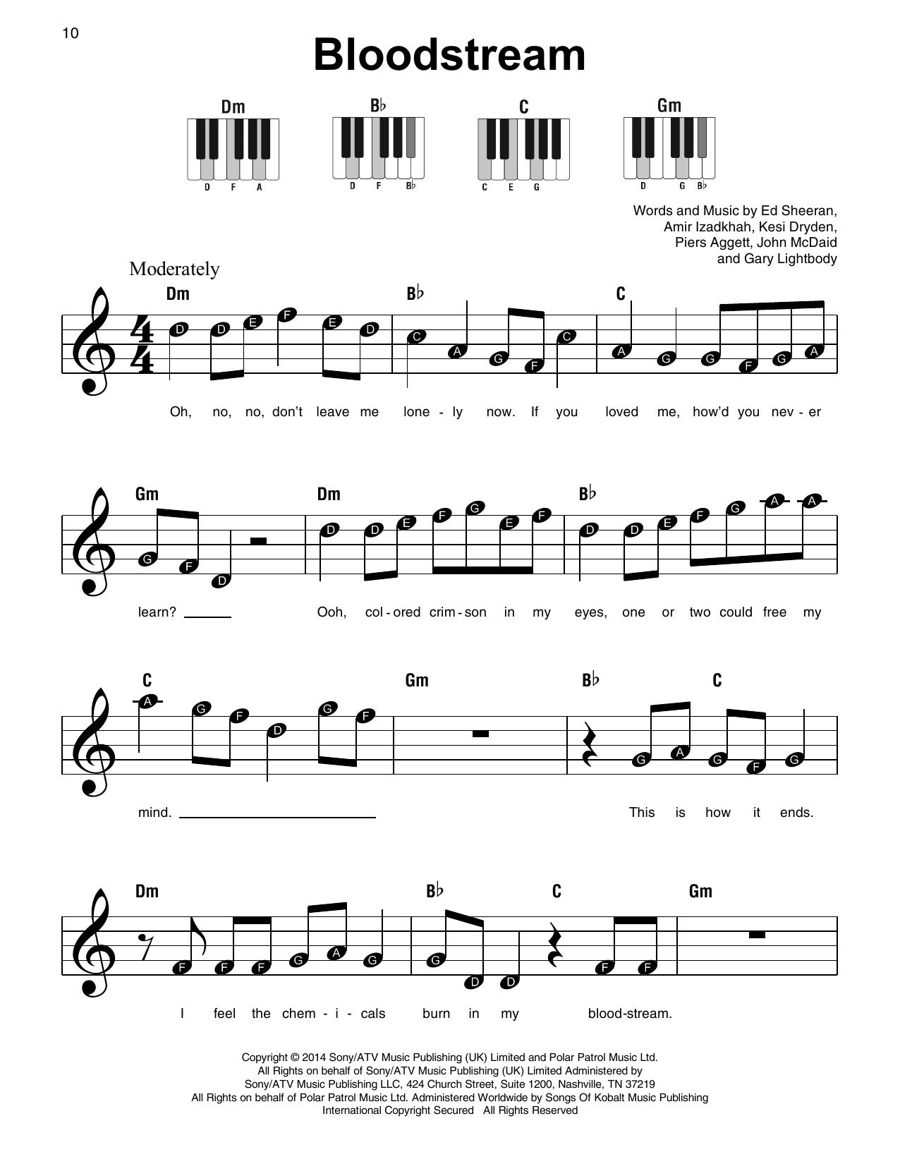 Bloodstream (Super Easy Piano)