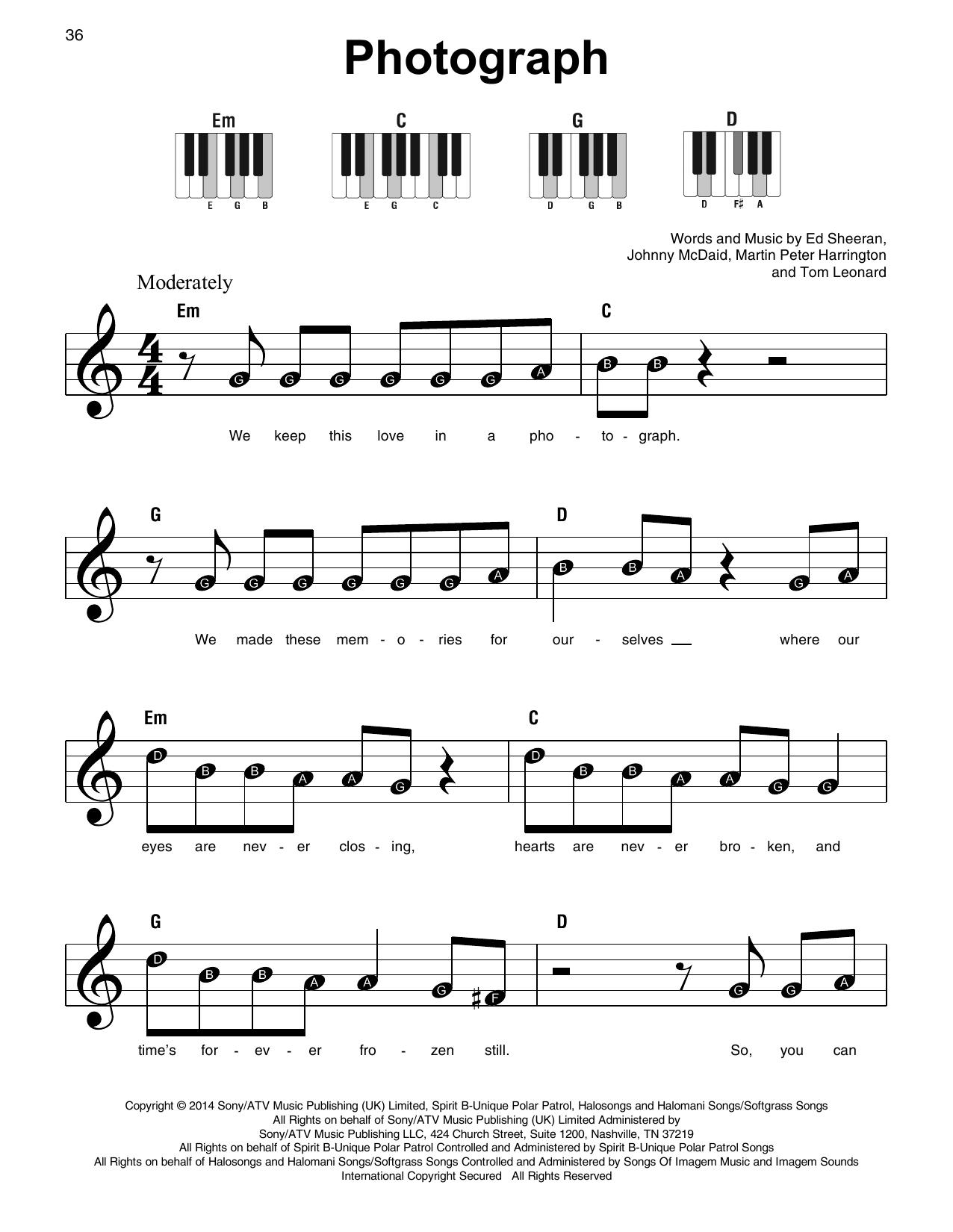 Photograph (Super Easy Piano)