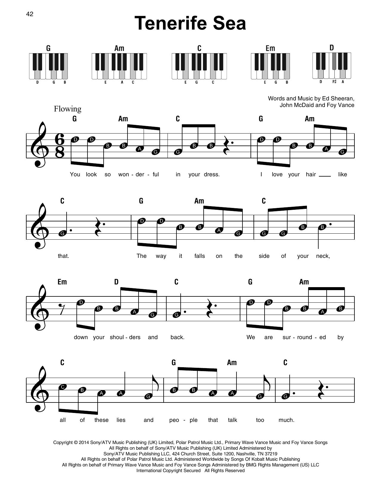 Tenerife Sea (Super Easy Piano)