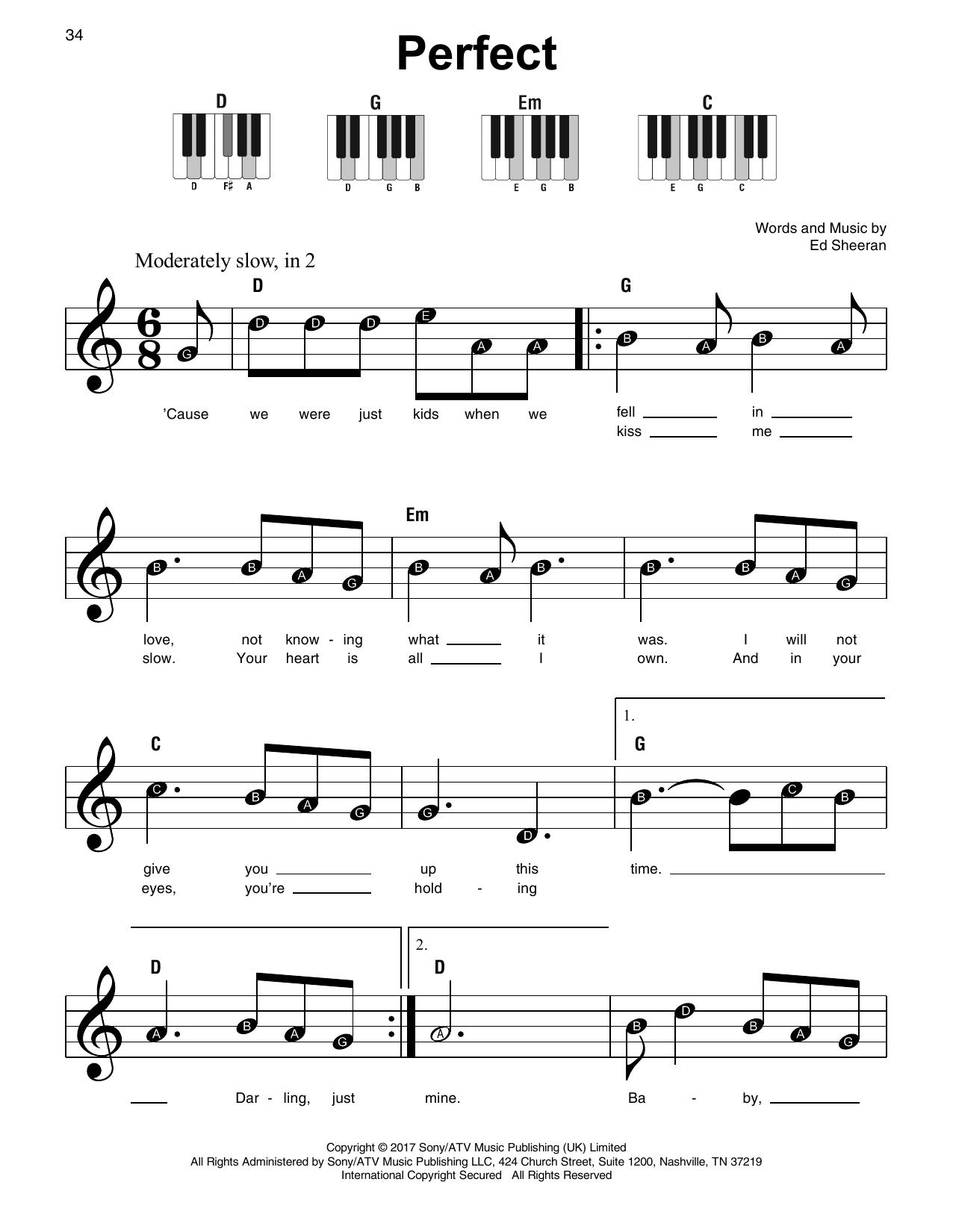 Perfect Sheet Music