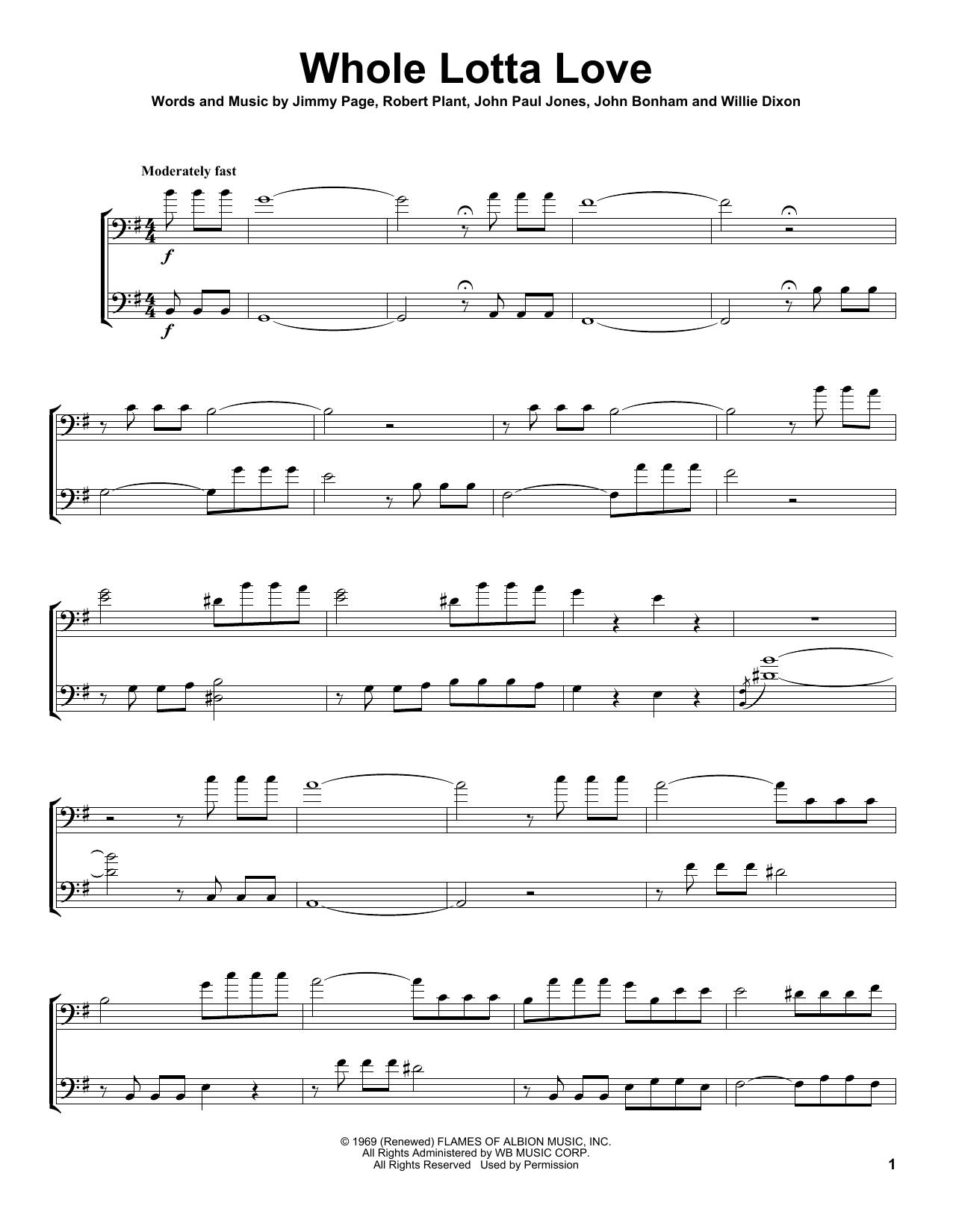 Whole Lotta Love (Cello Duet)