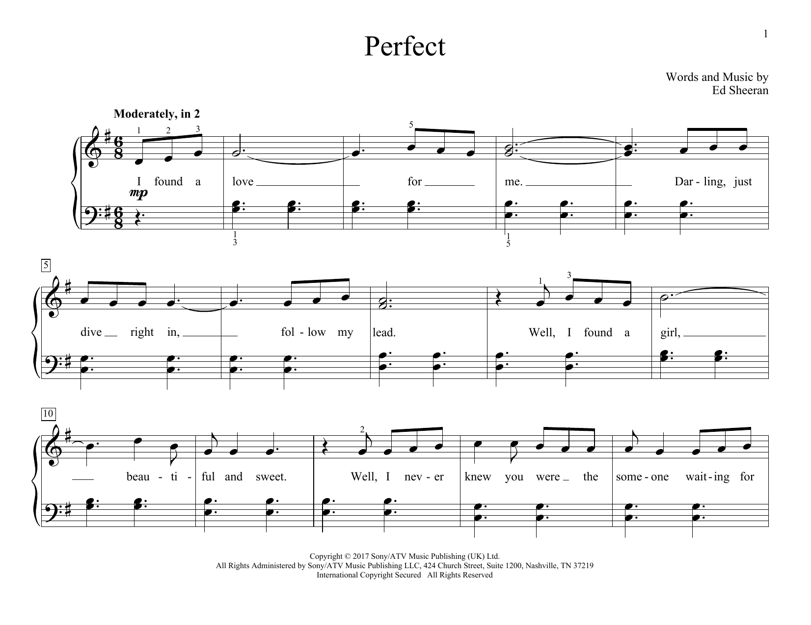 Perfect (Educational Piano)