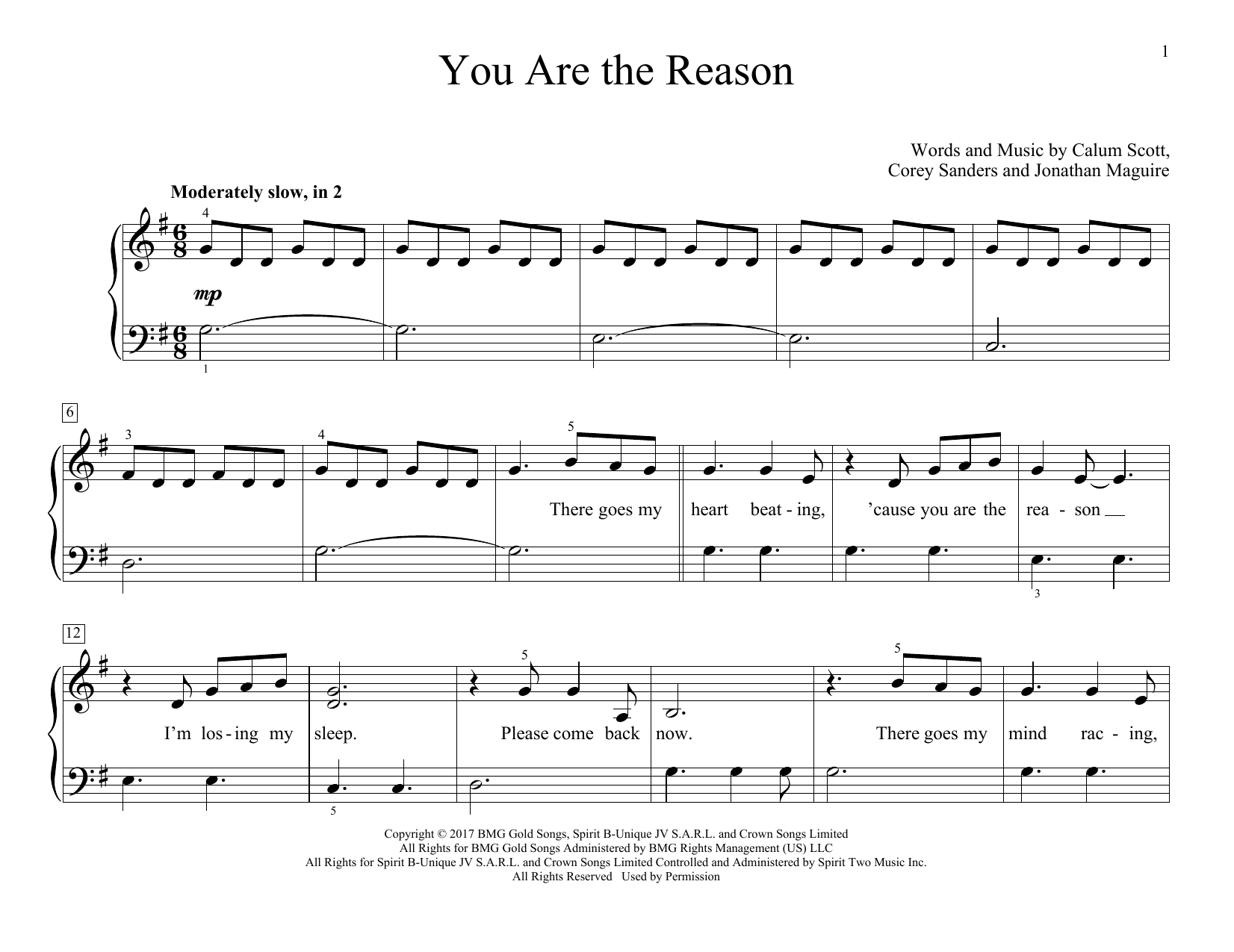 You Are The Reason (Educational Piano)