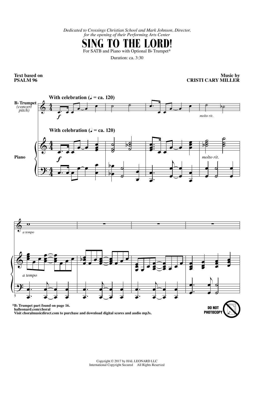 Sing To The Lord! (SATB Choir)