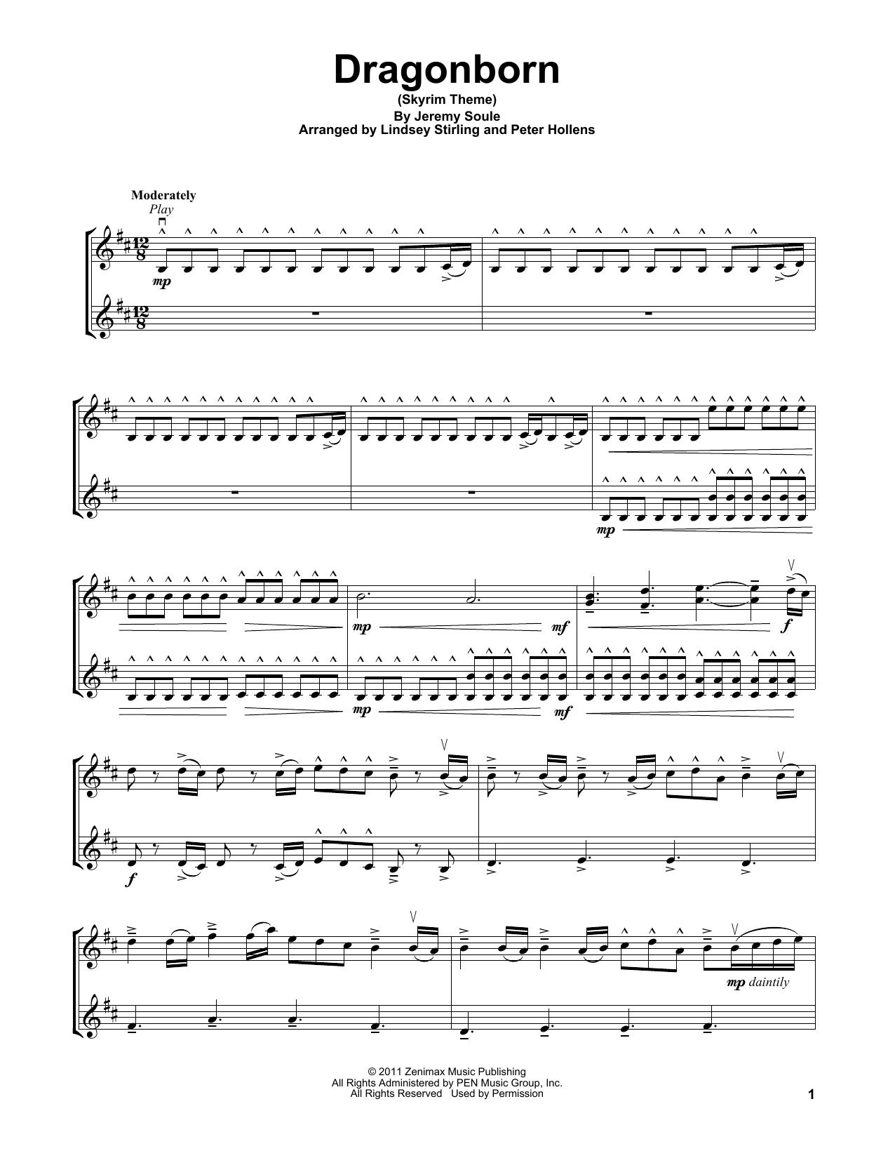 Dragonborn (Skyrim Theme) (Violin Solo)