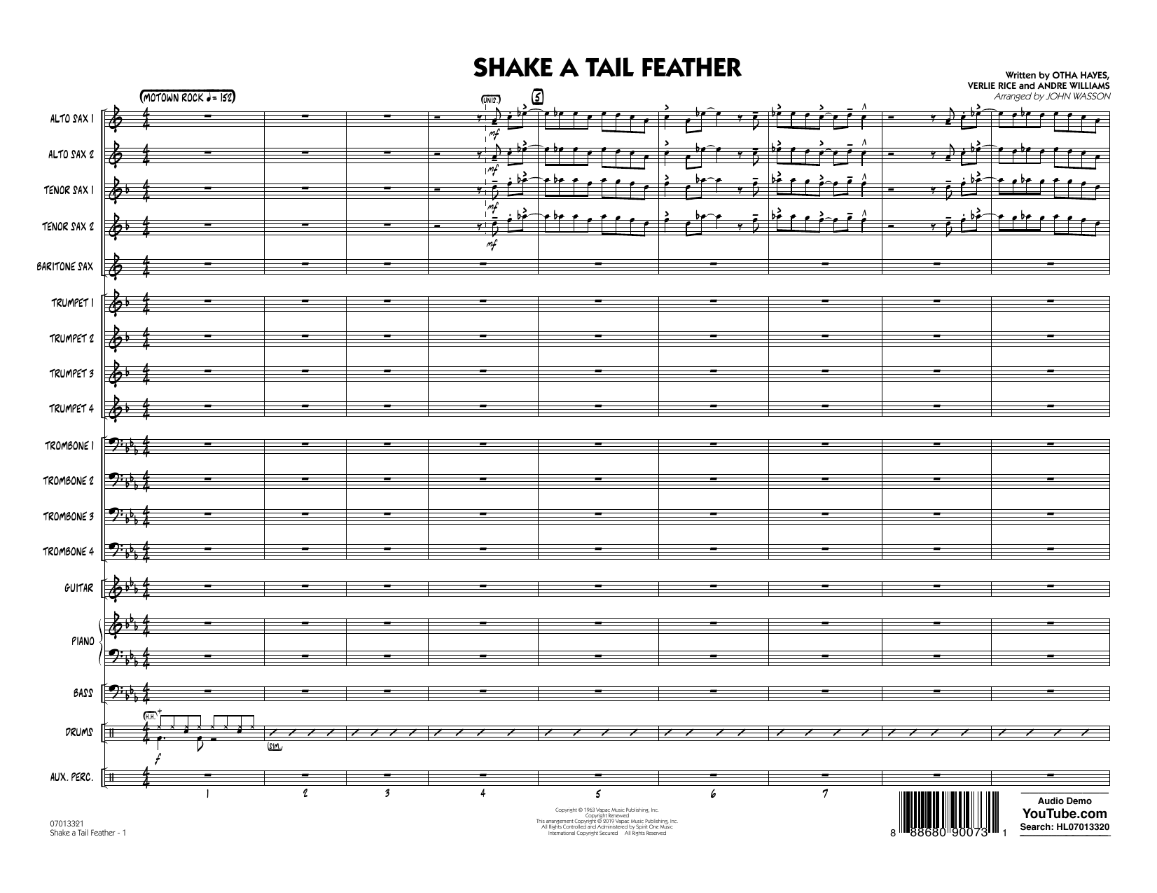 Shake a Tail Feather (arr. John Wasson) - Conductor Score (Full Score) (Jazz Ensemble)