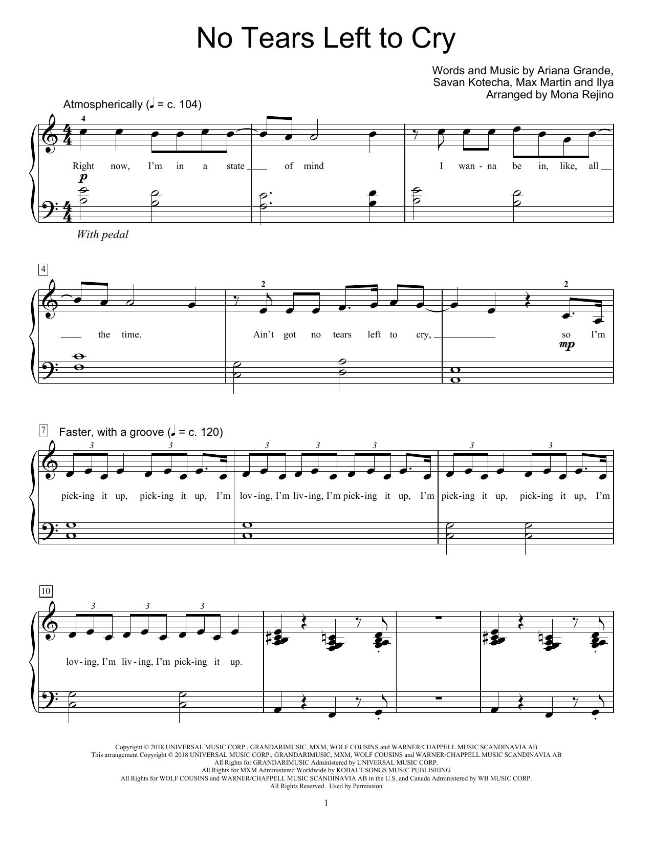 No Tears Left To Cry (arr. Mona Rejino) (Educational Piano)