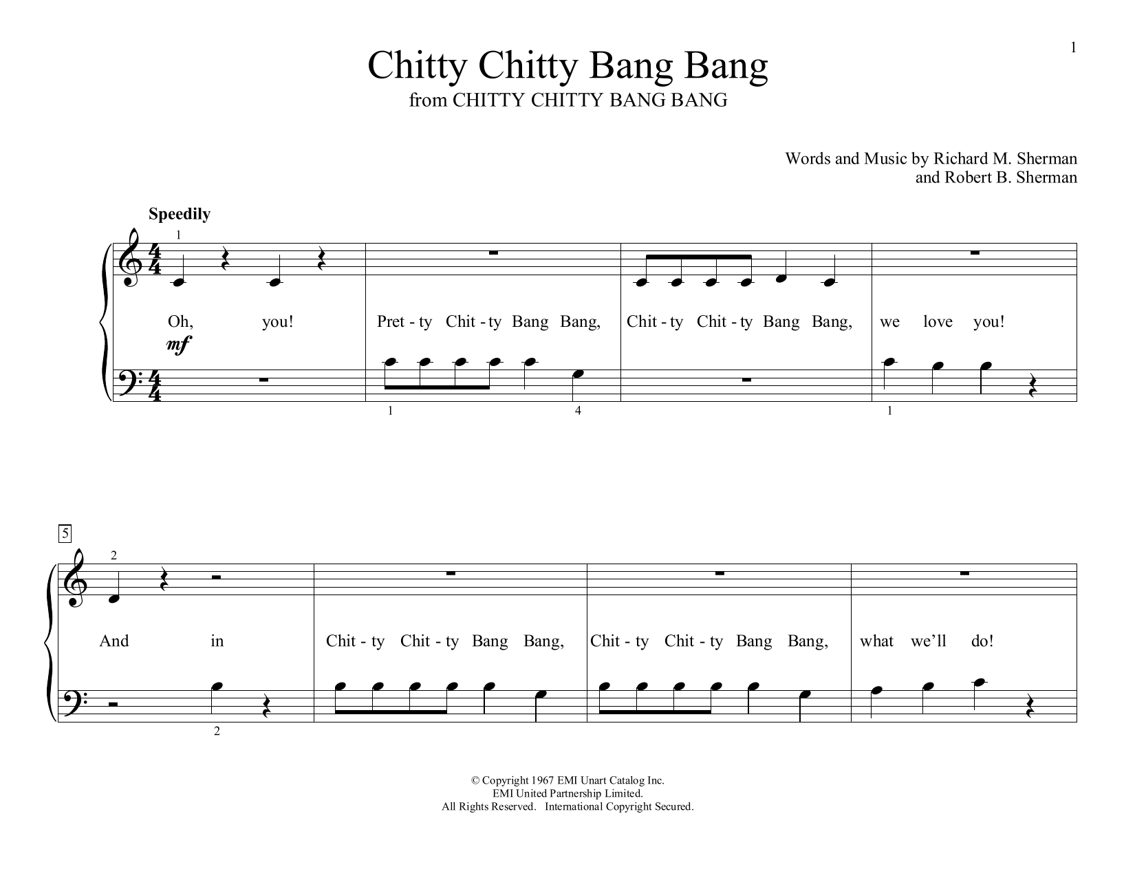 Chitty Chitty Bang Bang (arr. Christopher Hussey) (Educational Piano)